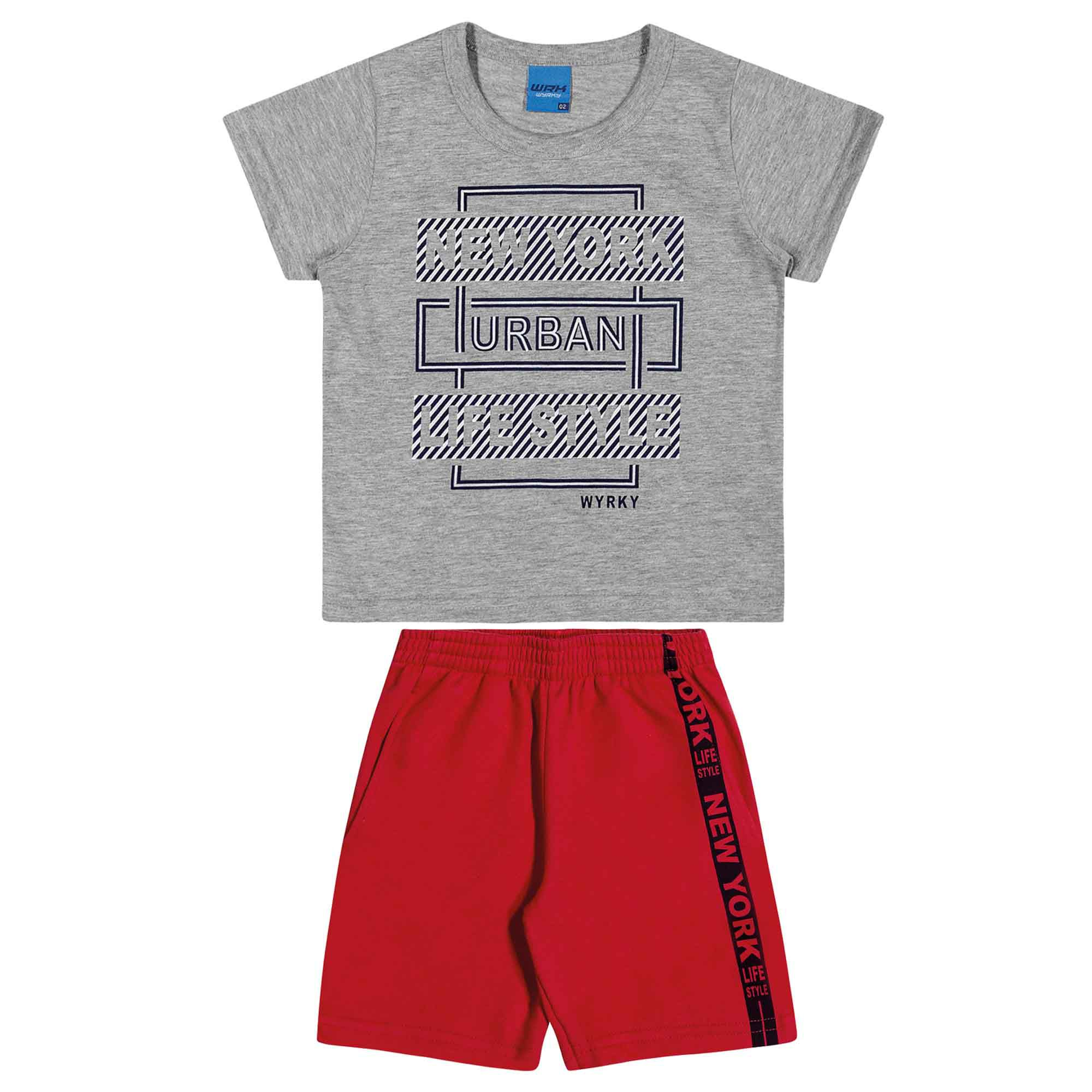 Conjunto Verão Romitex Wyrky New York Urban Life Style - 1 ao 3