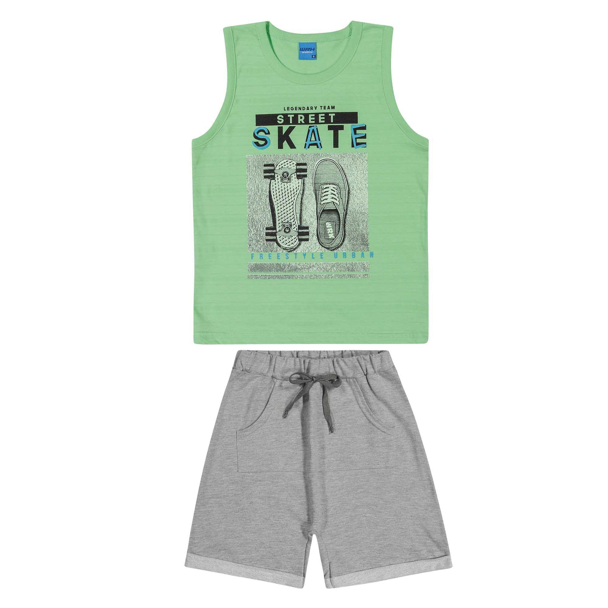 Conjunto Verão Romitex Wyrky Skate - 4 ao 10