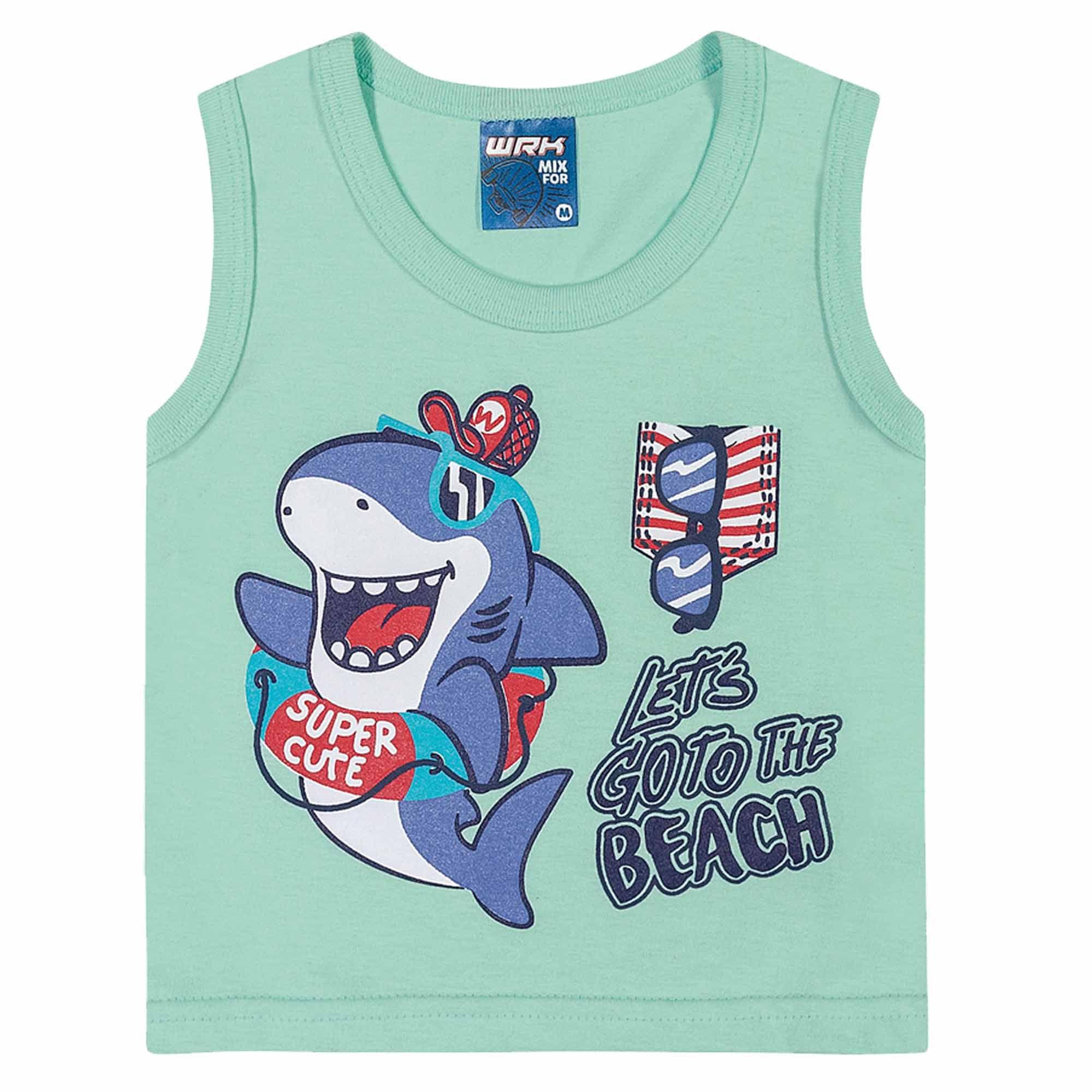 Conjunto Verão Romitex Wyrky Tubarão Praiano - P ao G