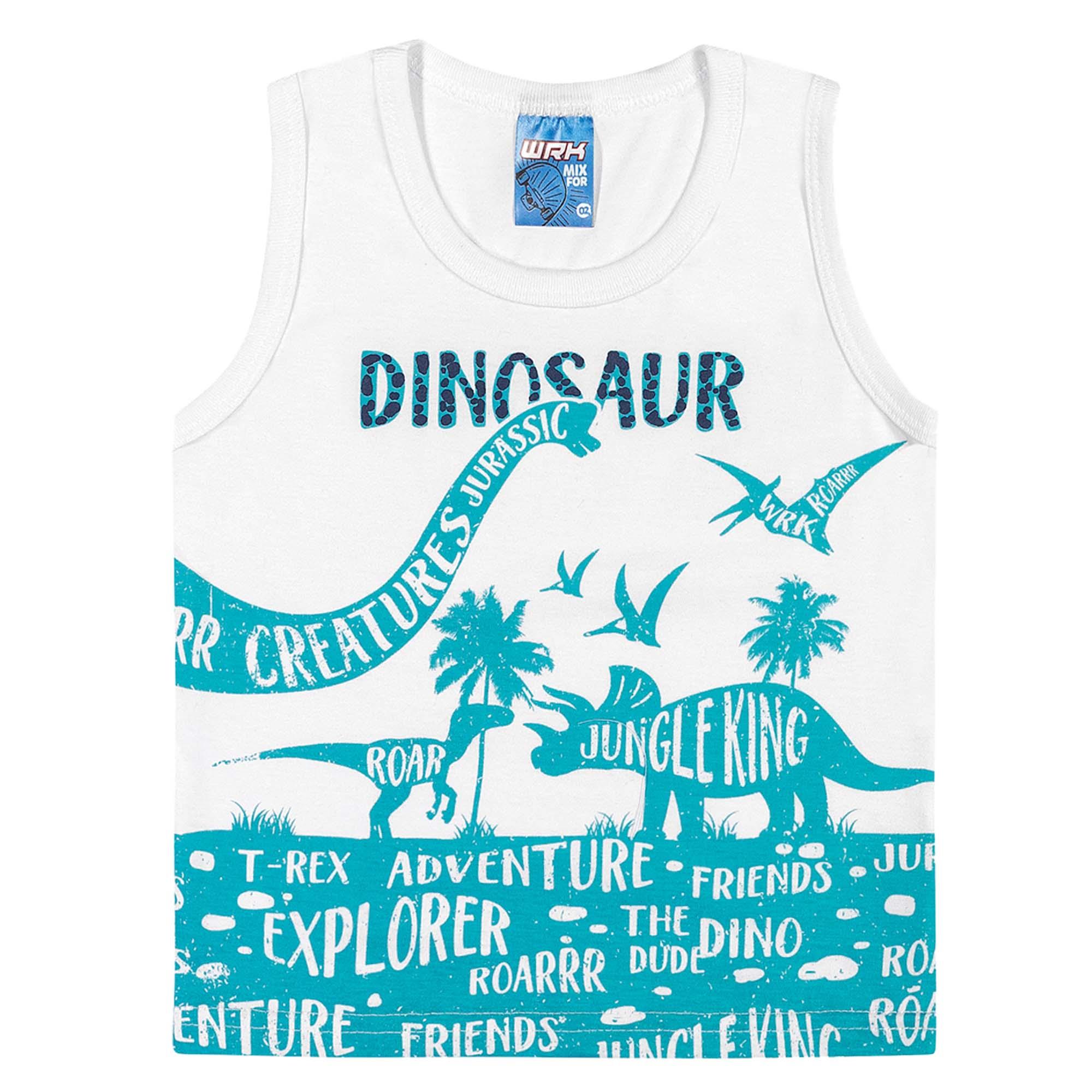 Conjunto Verão Romitex Wyrky Dinossauros - 4 ao 8