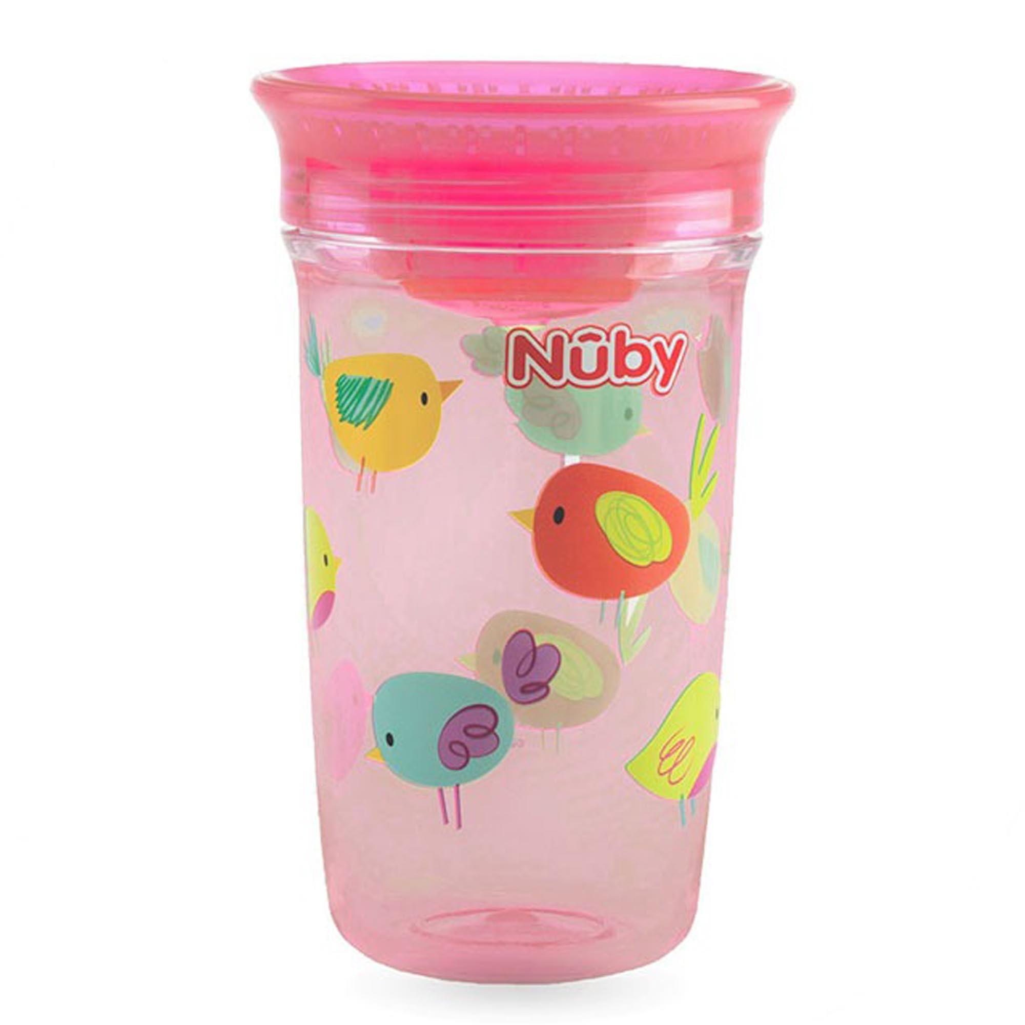 Copo Cajovil Nûby Tritan 360° - Passarinho +12M - Rosa