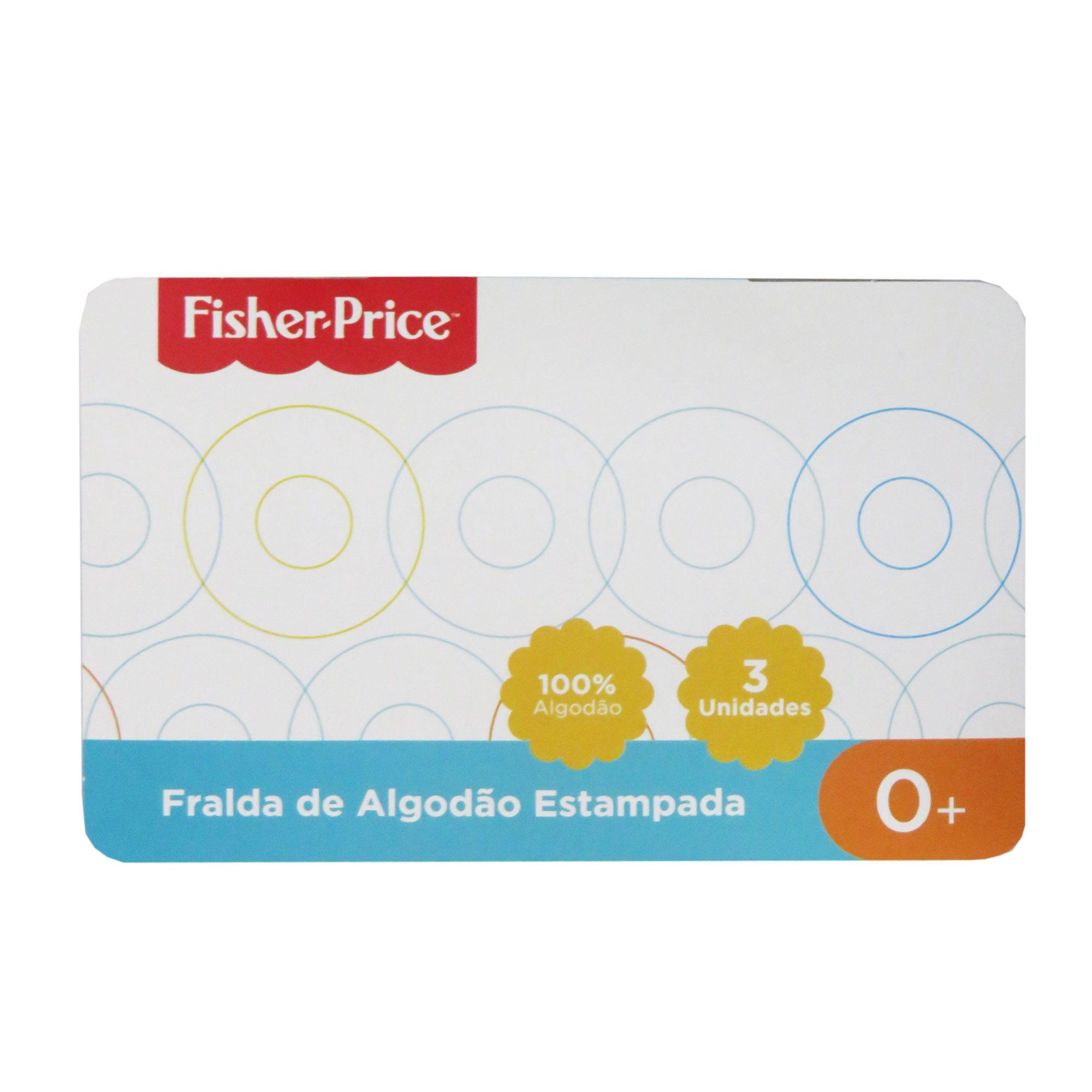 Fralda Incomfral Fisher-Price - Estampada