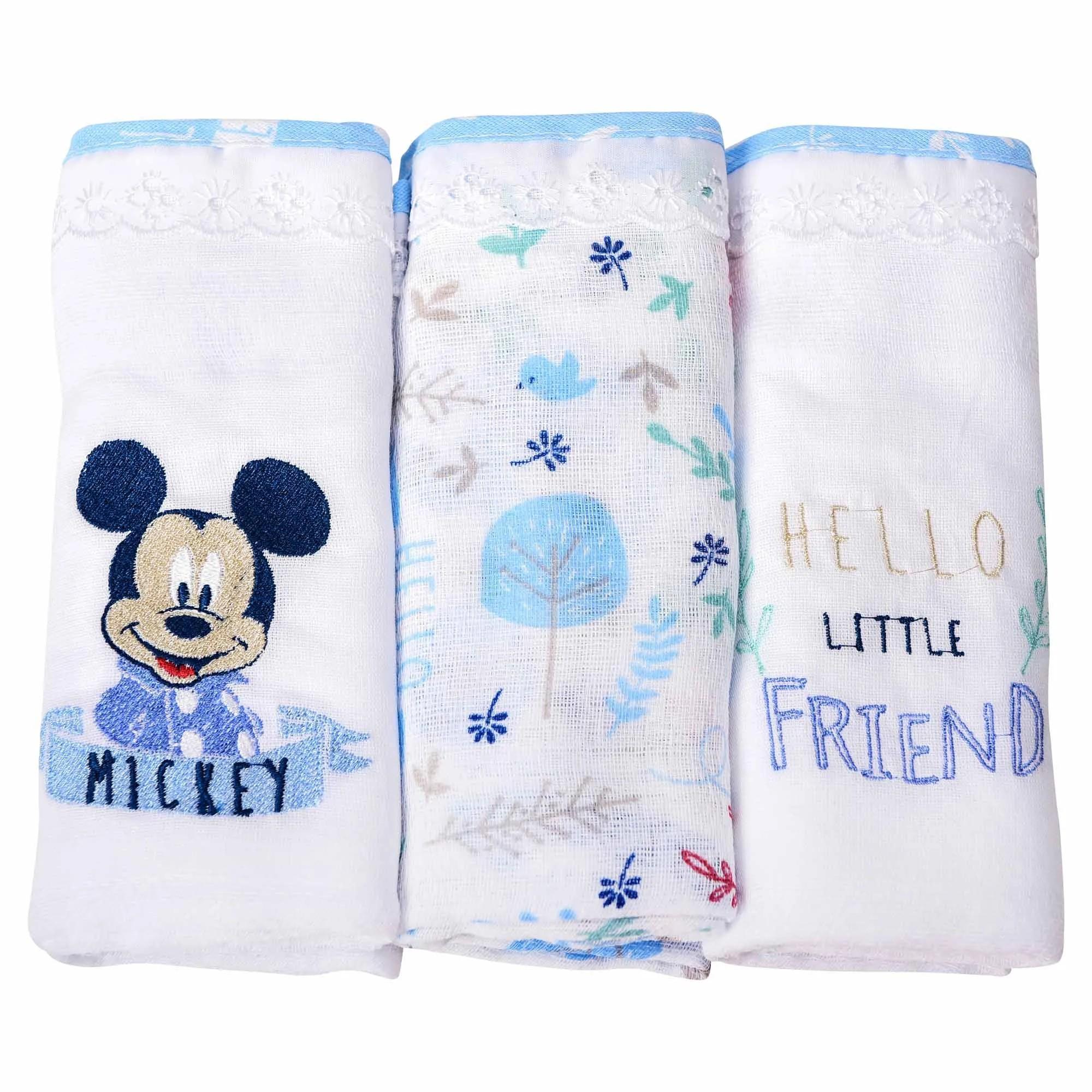 Fralda Minasrey Disney Bordada Três Unidades - Mickey