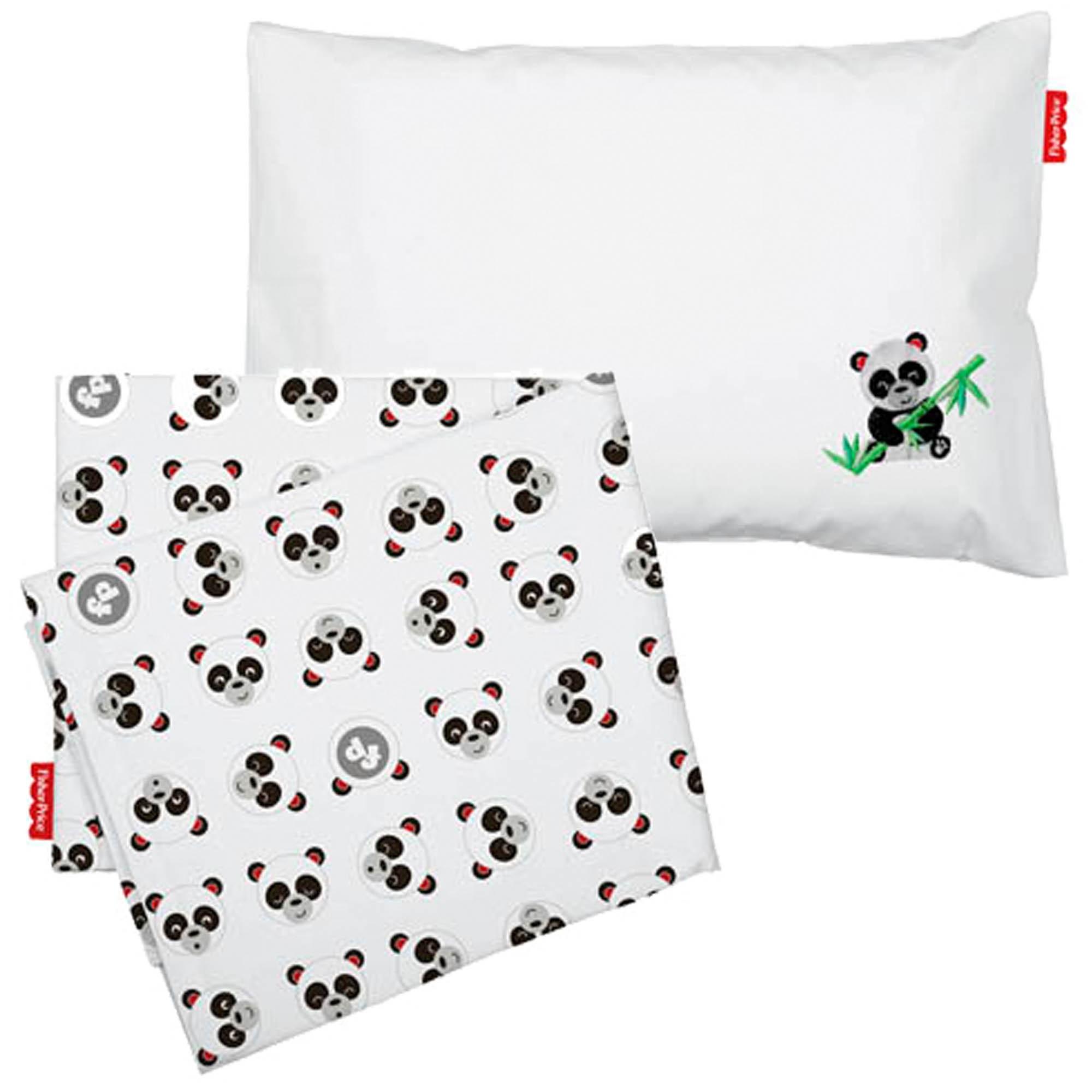 Jogo de Lençol para Carrinho com 2 peças - Incomfral Fisher-Price - Panda