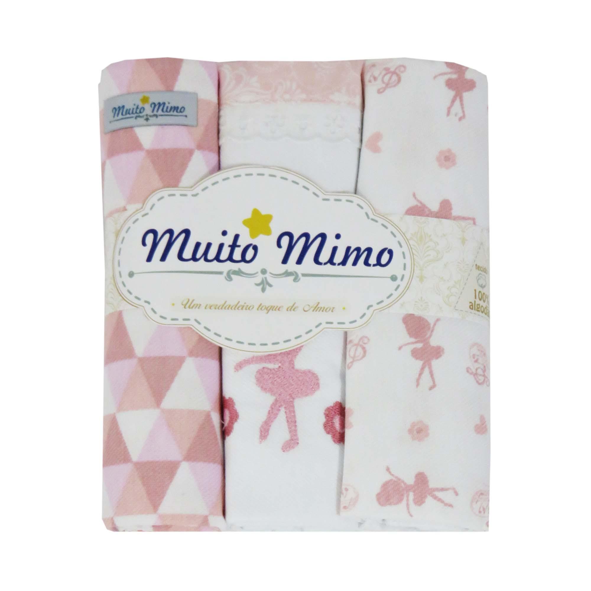 Kit cueiro com Três rolinhos - Minasrey - Muito Mimo