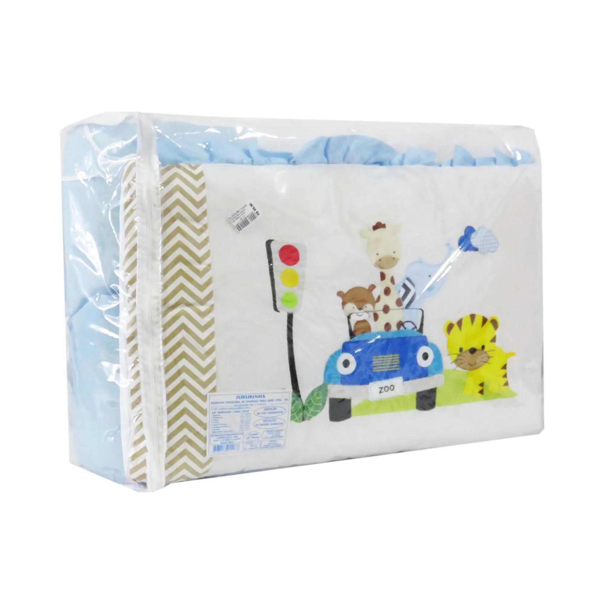 Kit de Berço Surukinha Bordado 9 peças - Zoo
