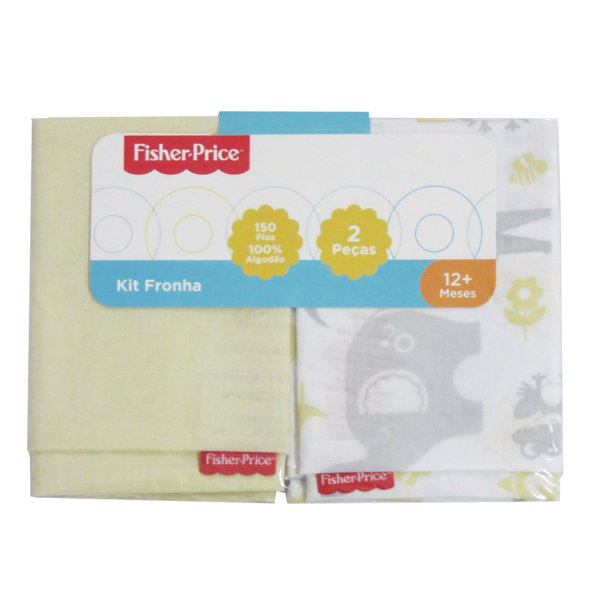 Kit Fronha Incomfral Fisher-Price - Amarelo Claro