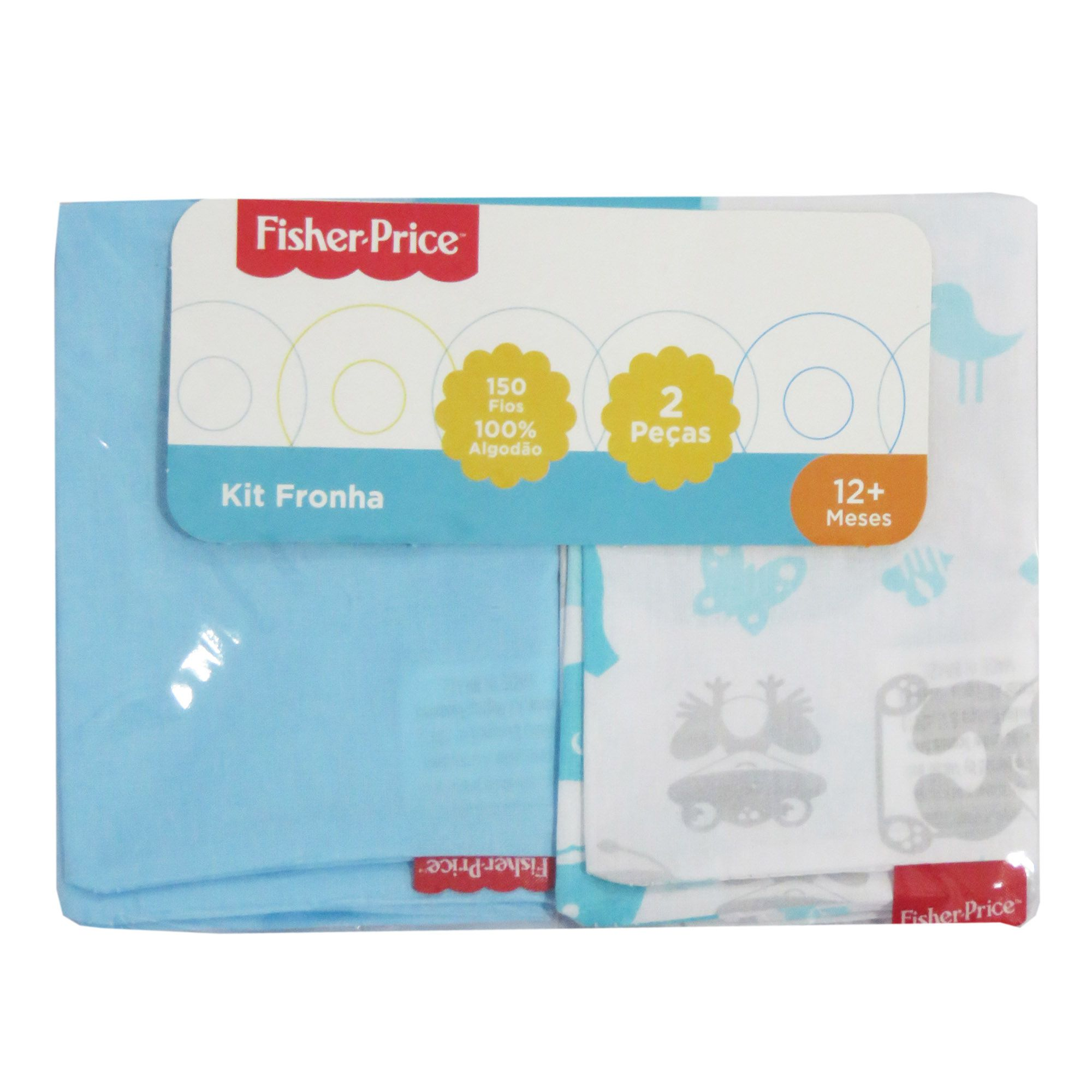 Kit Fronha Incomfral Fisher-Price - Azul Claro