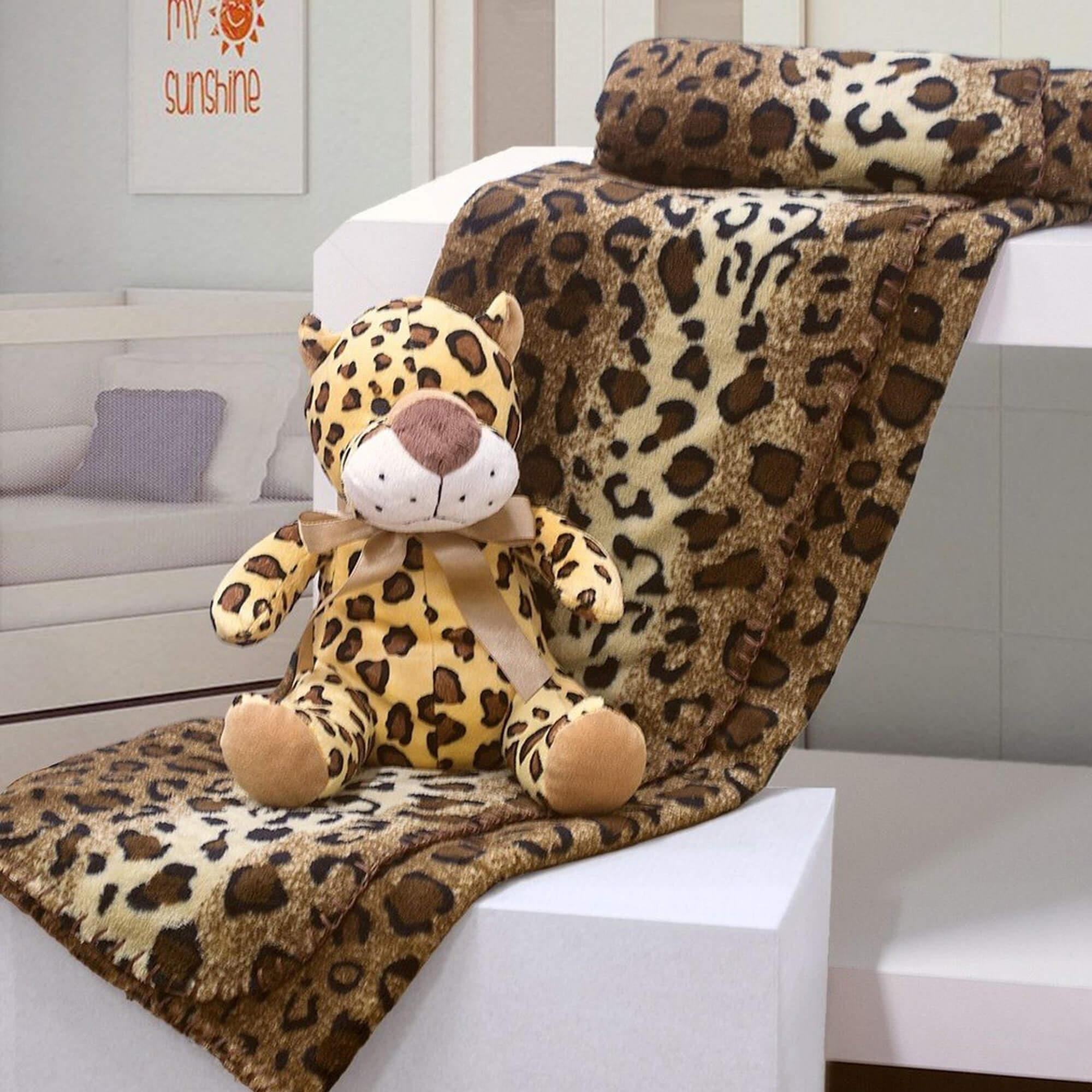 Kit Manta Bouton  – Leopardo – Bege