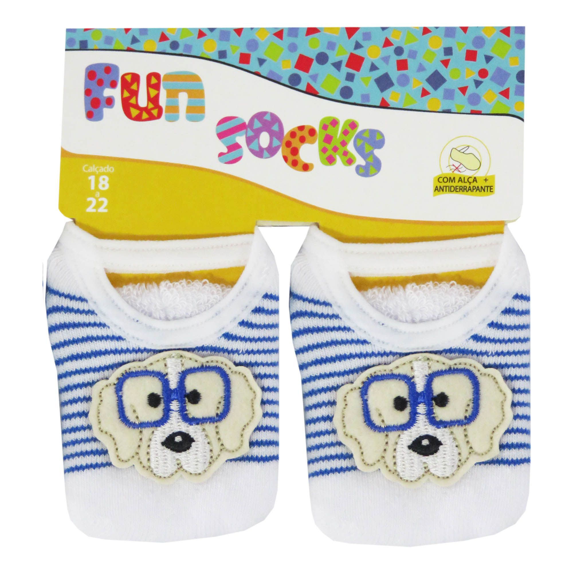 Kit Meia Winston c/3 Alça Bordada Fun Socks - 18/22