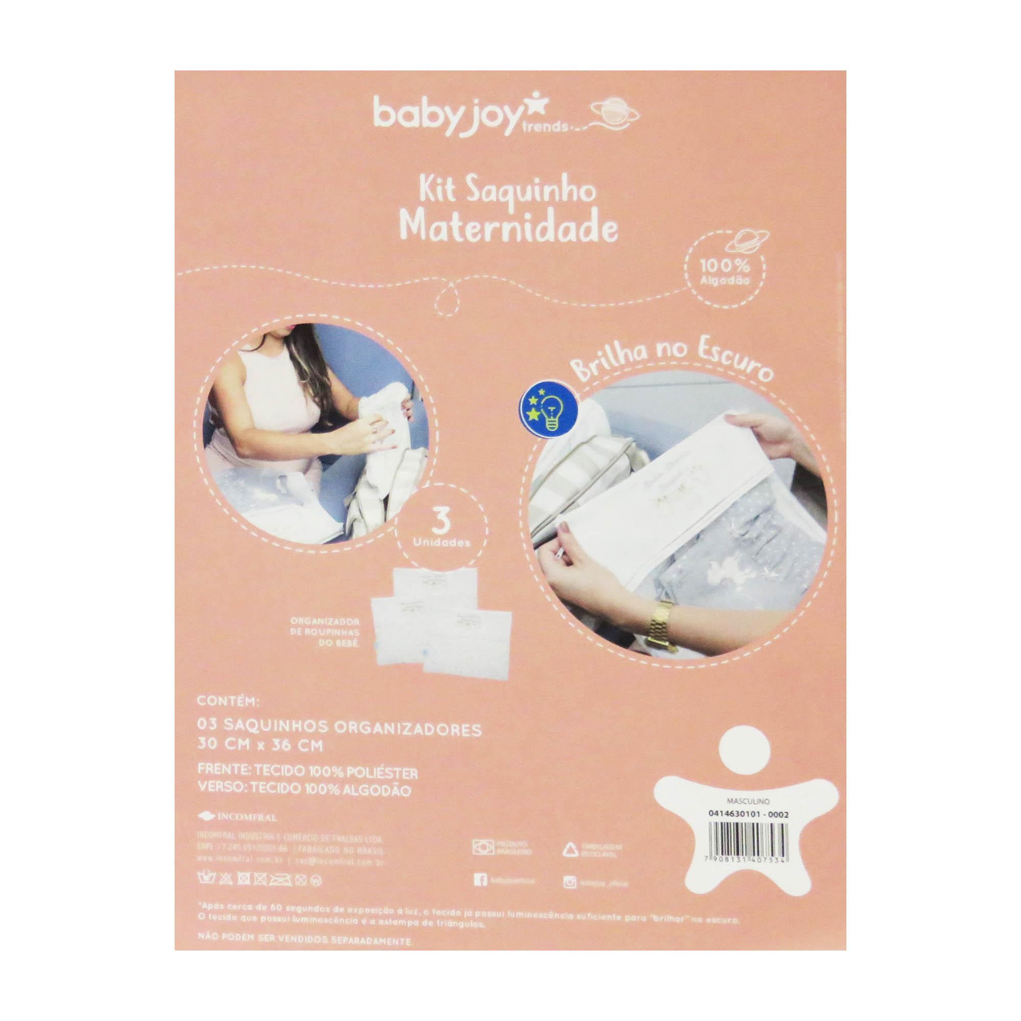 Kit Saquinho Maternidade Incomfral Babyjoy - Azul