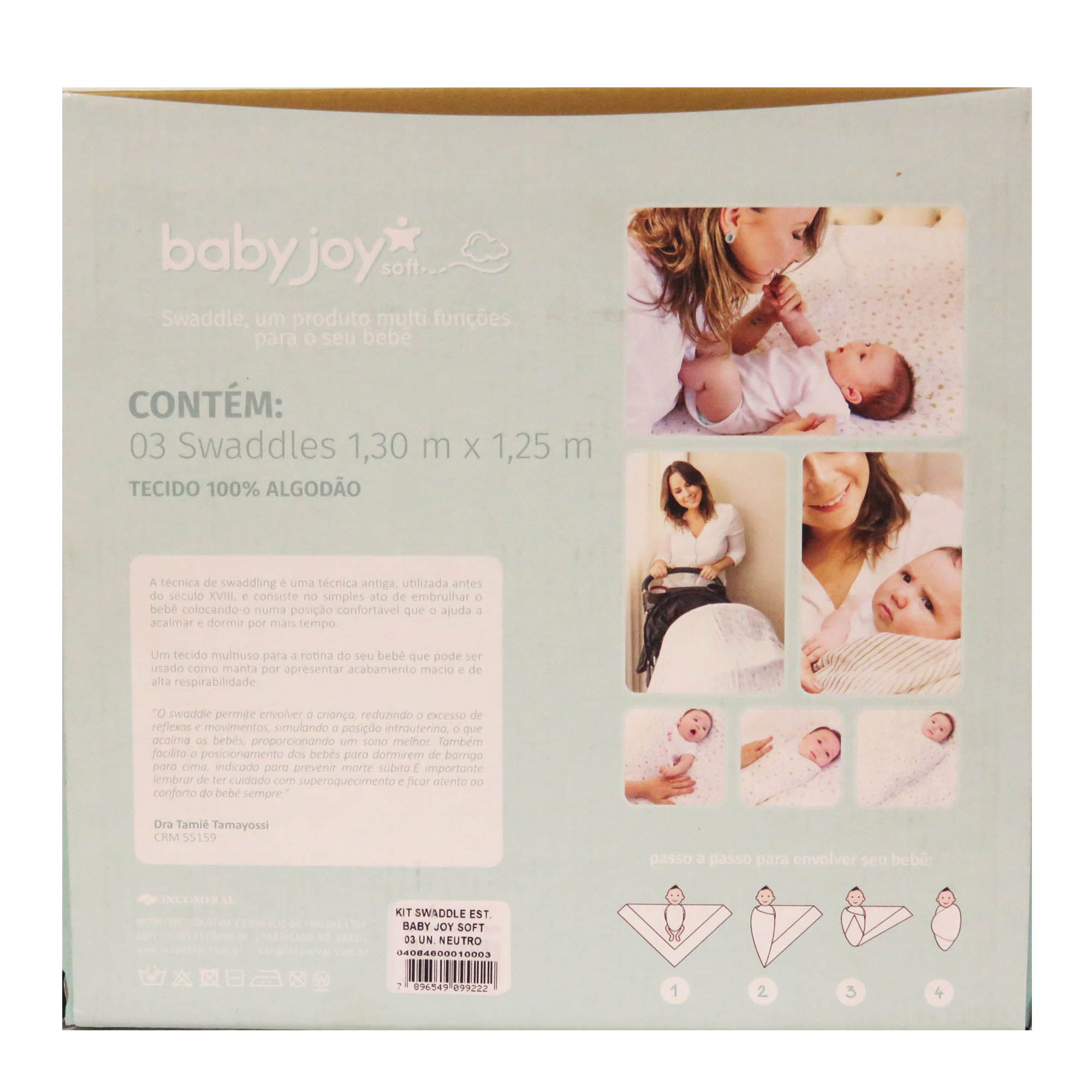 Kit Swaddle Incomfral Babyjoy - Estampado