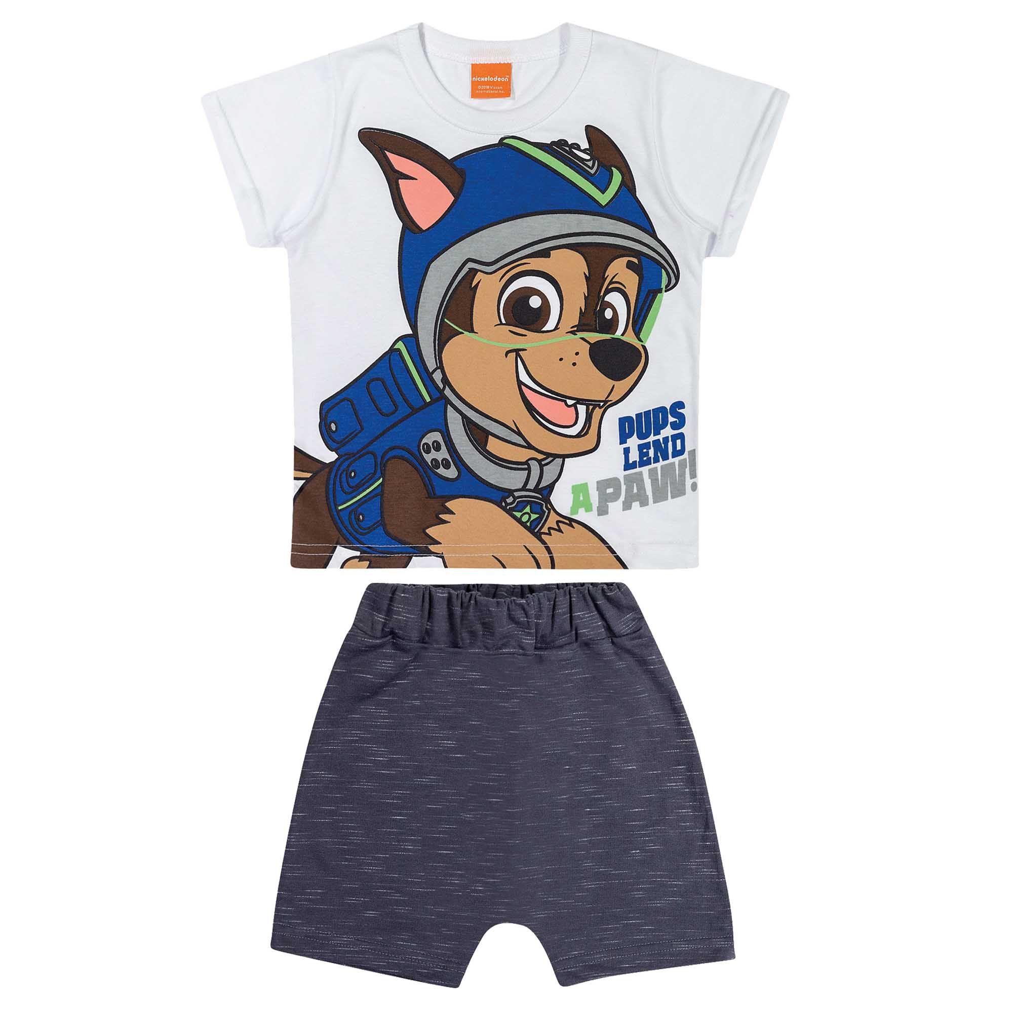 Loungewear Verão Romitex Chase Patrulha Canina - 1 ao 3