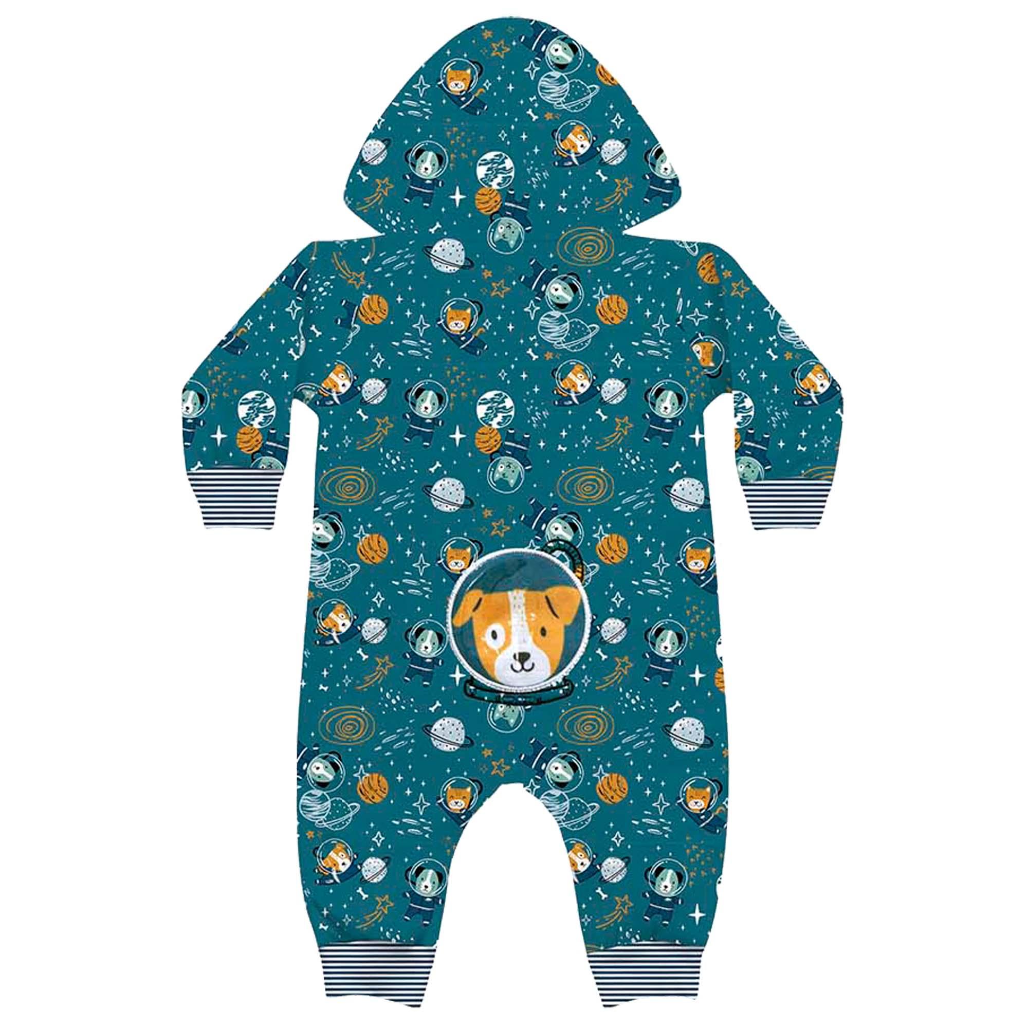 Macacão Kiko Baby de Suedine - Space Dog - RN ao M