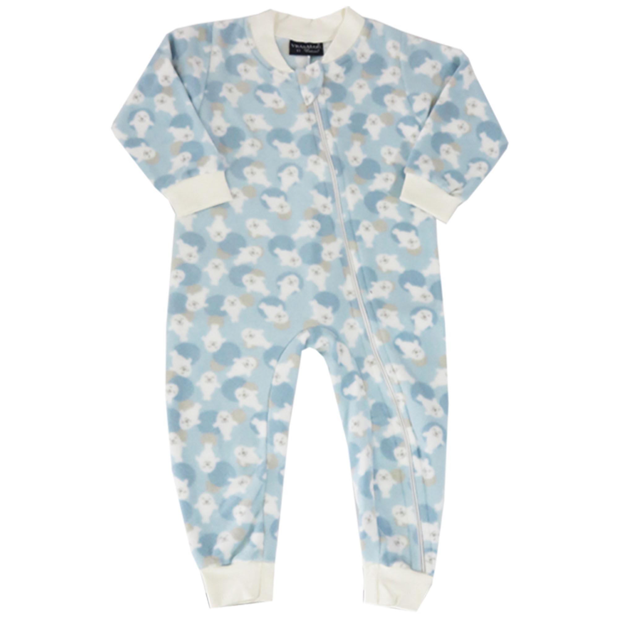 Macacão Pijama Inverno Vrasalon Soft Foquinhas - 01 ao 03