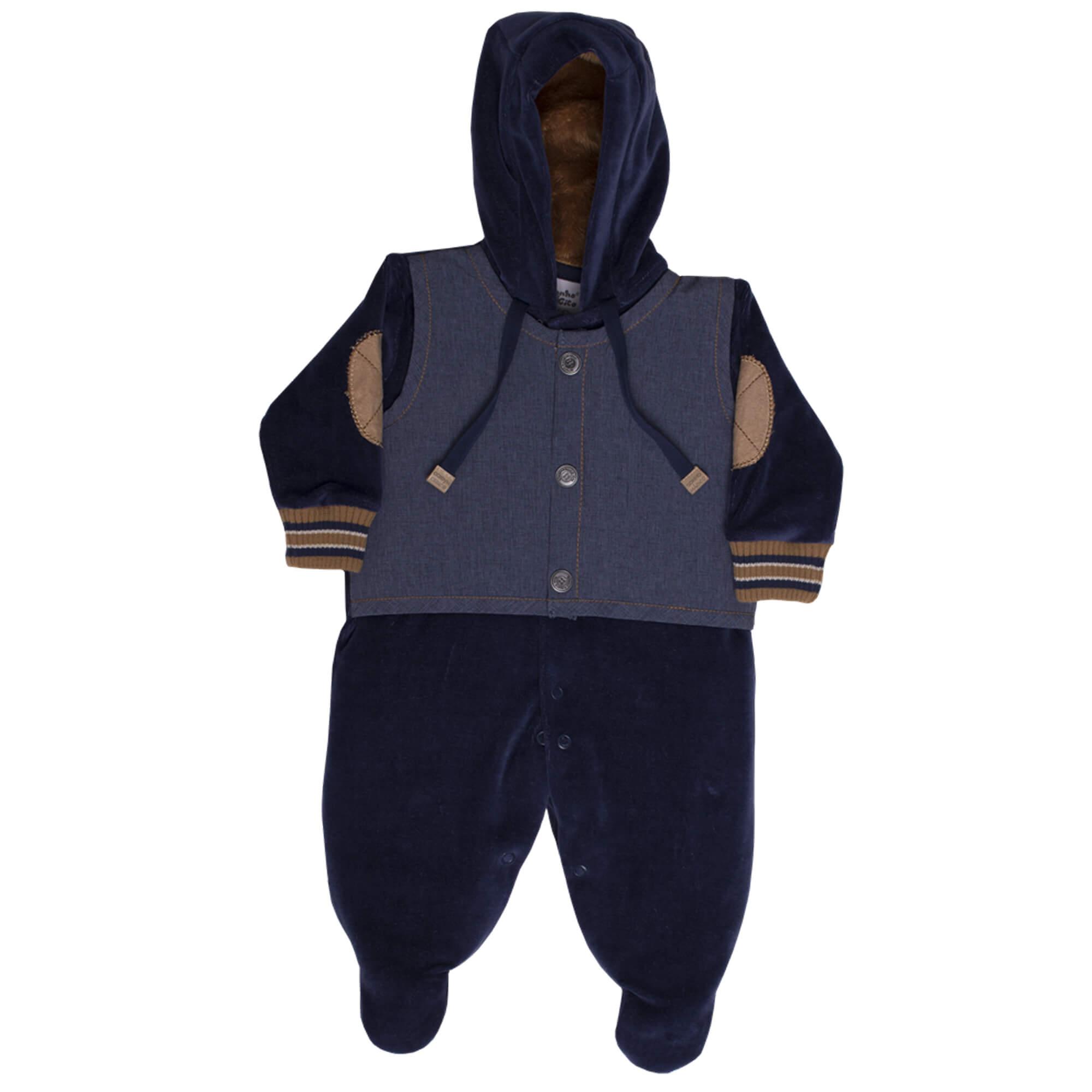 Macacão Inverno Plush Sonho Mágico Baby - PP ao P