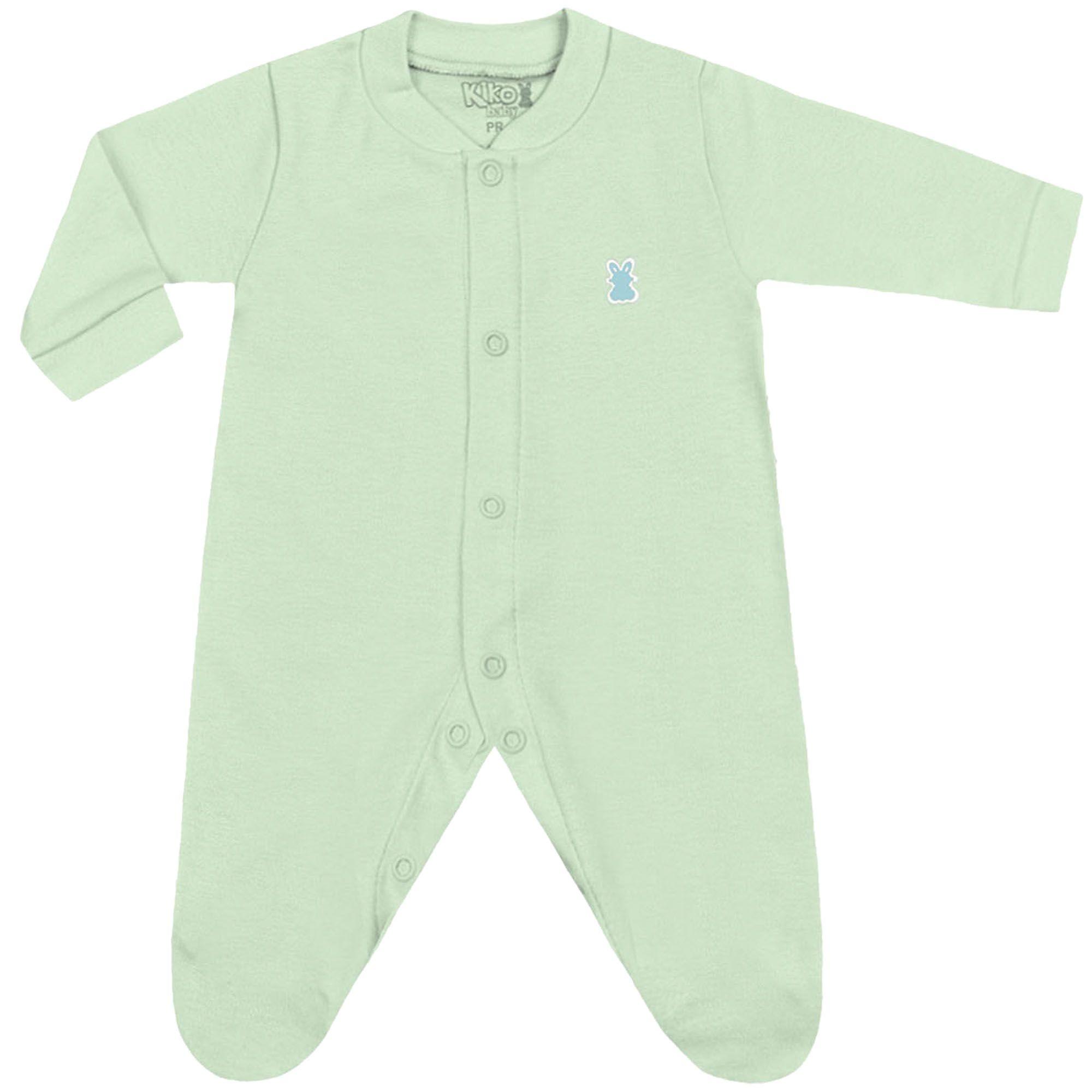 Macacão Suedine Kiko Baby Color Liso - Prematuro