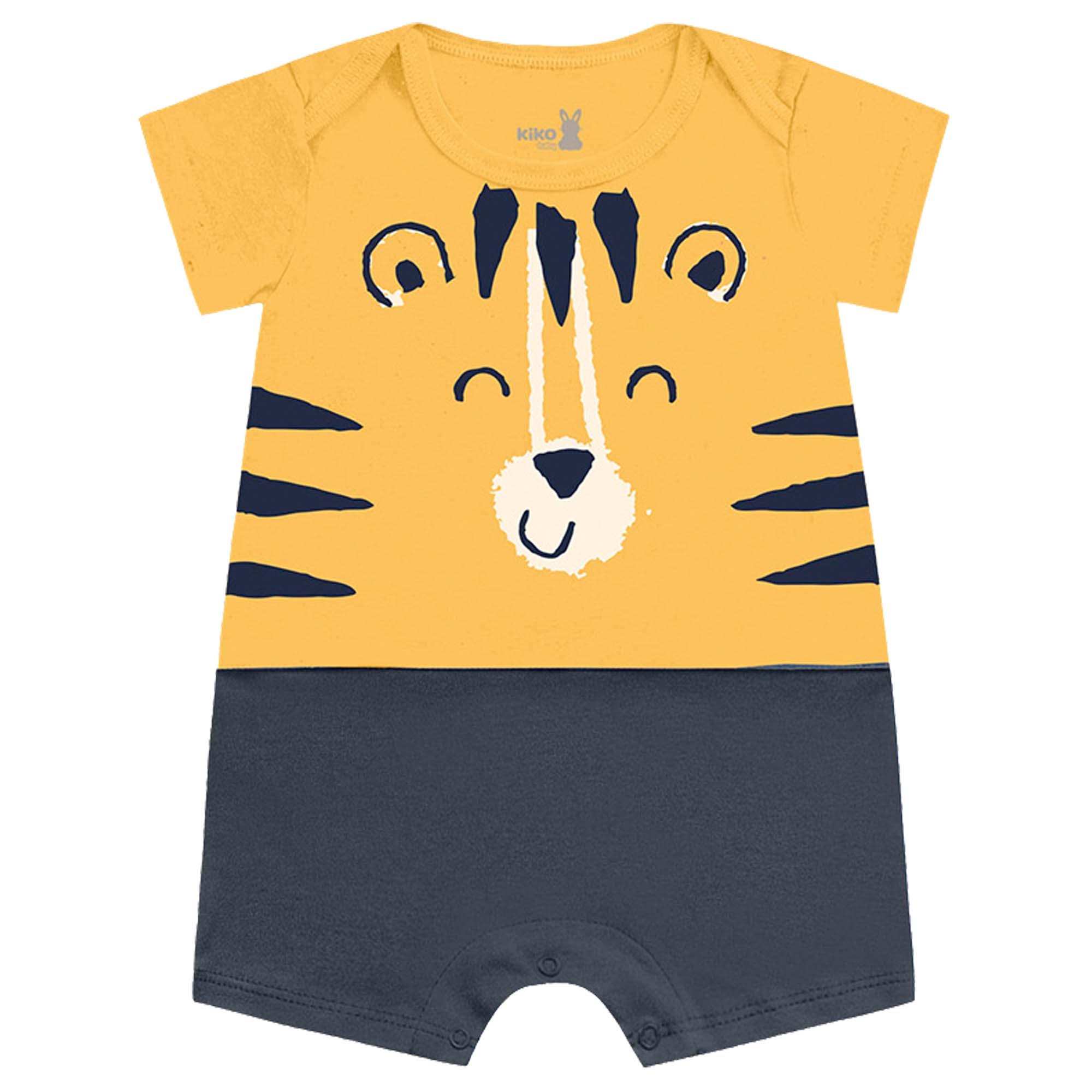 Macacão Verão Kiko Baby Estampa Tigre - P ao G