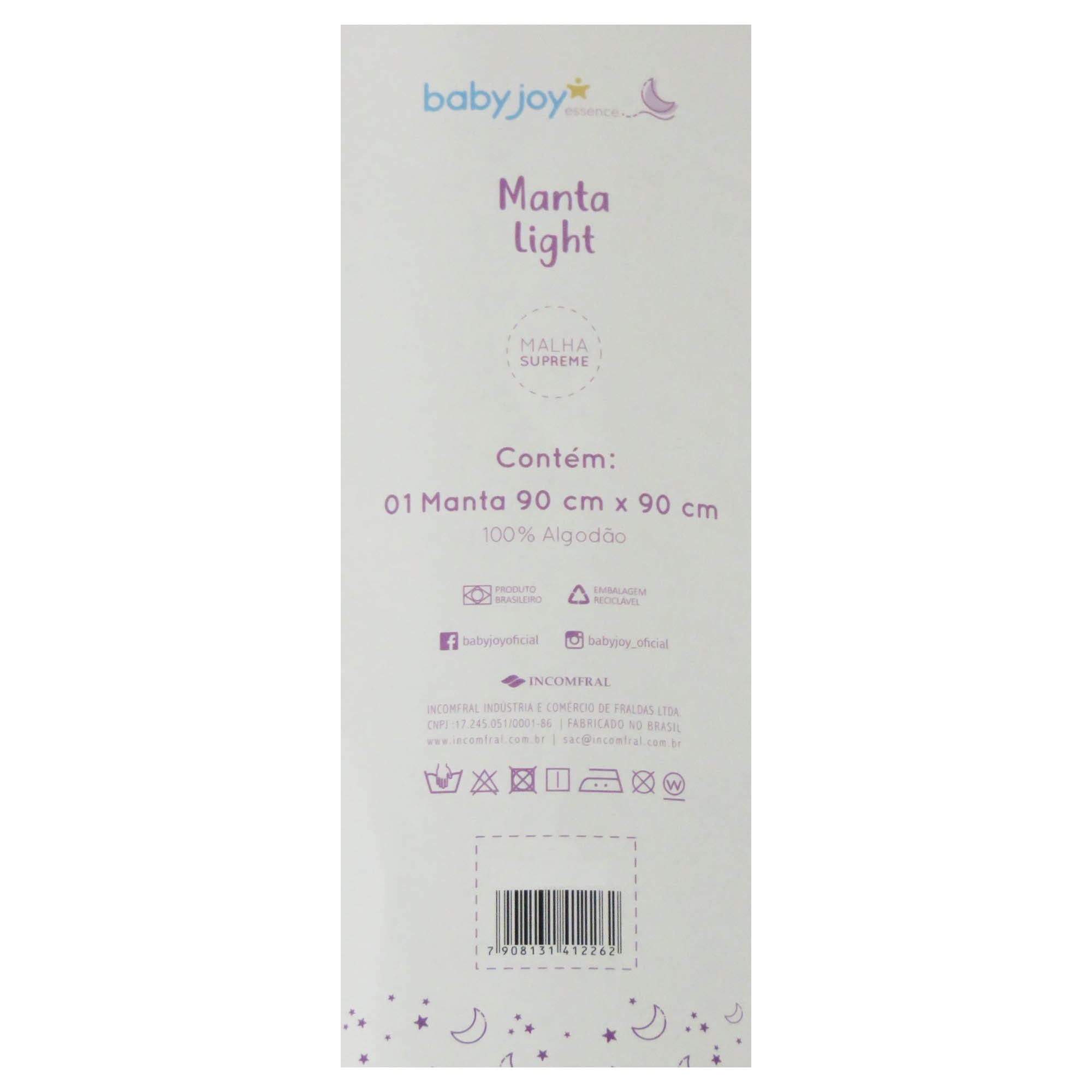 Manta Light Malha Lisa com Bordado - Incomfral - Baby Joy - Rosa