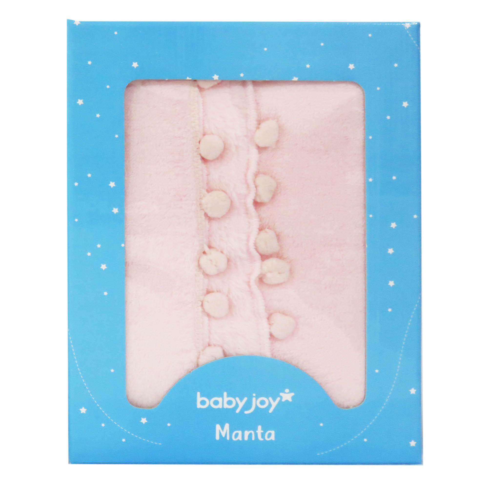 Manta Soft Microfibra Pompons - Incomfral - Babyjoy