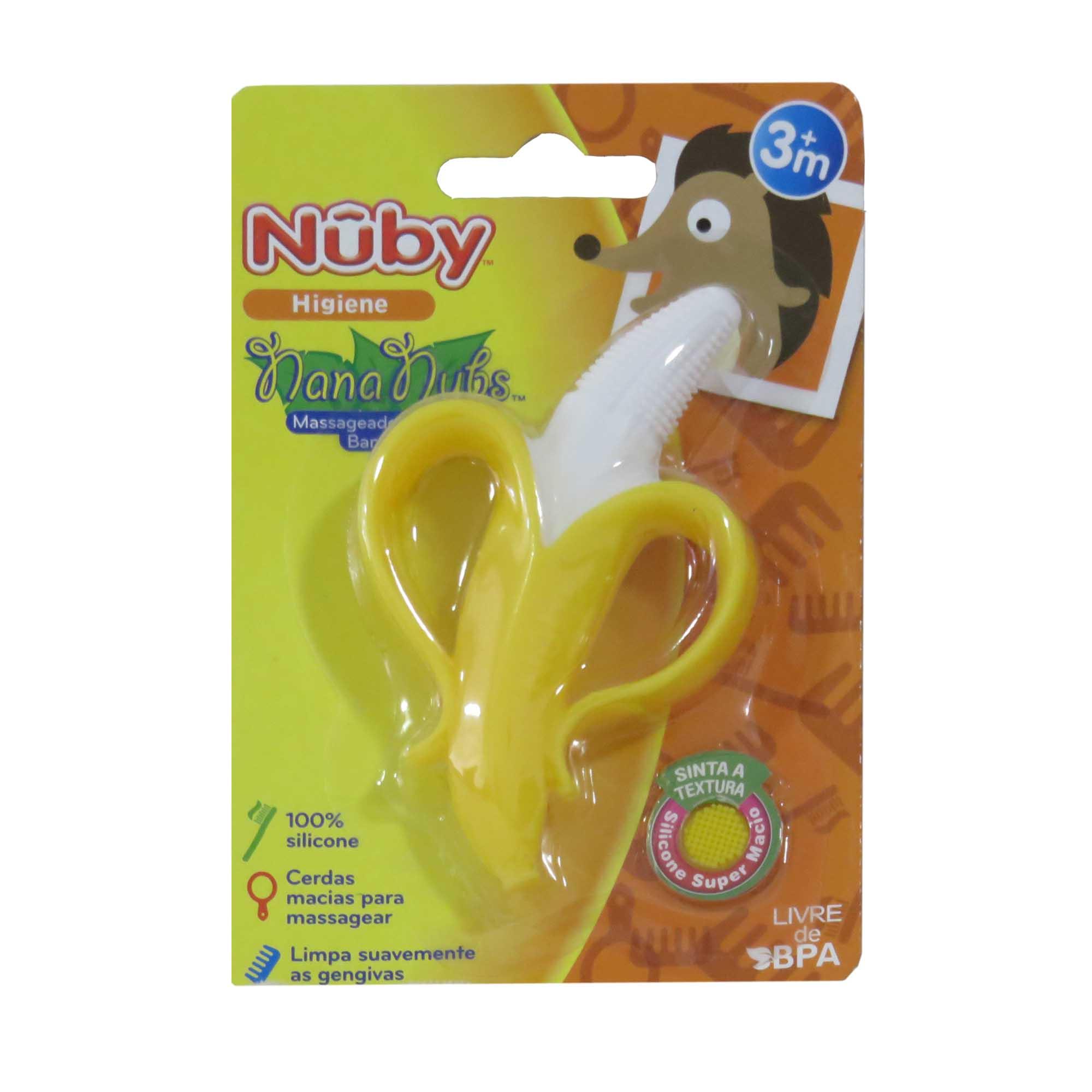 Massageador Dental Cajovil Nûby - Banana +3M - Amarelo