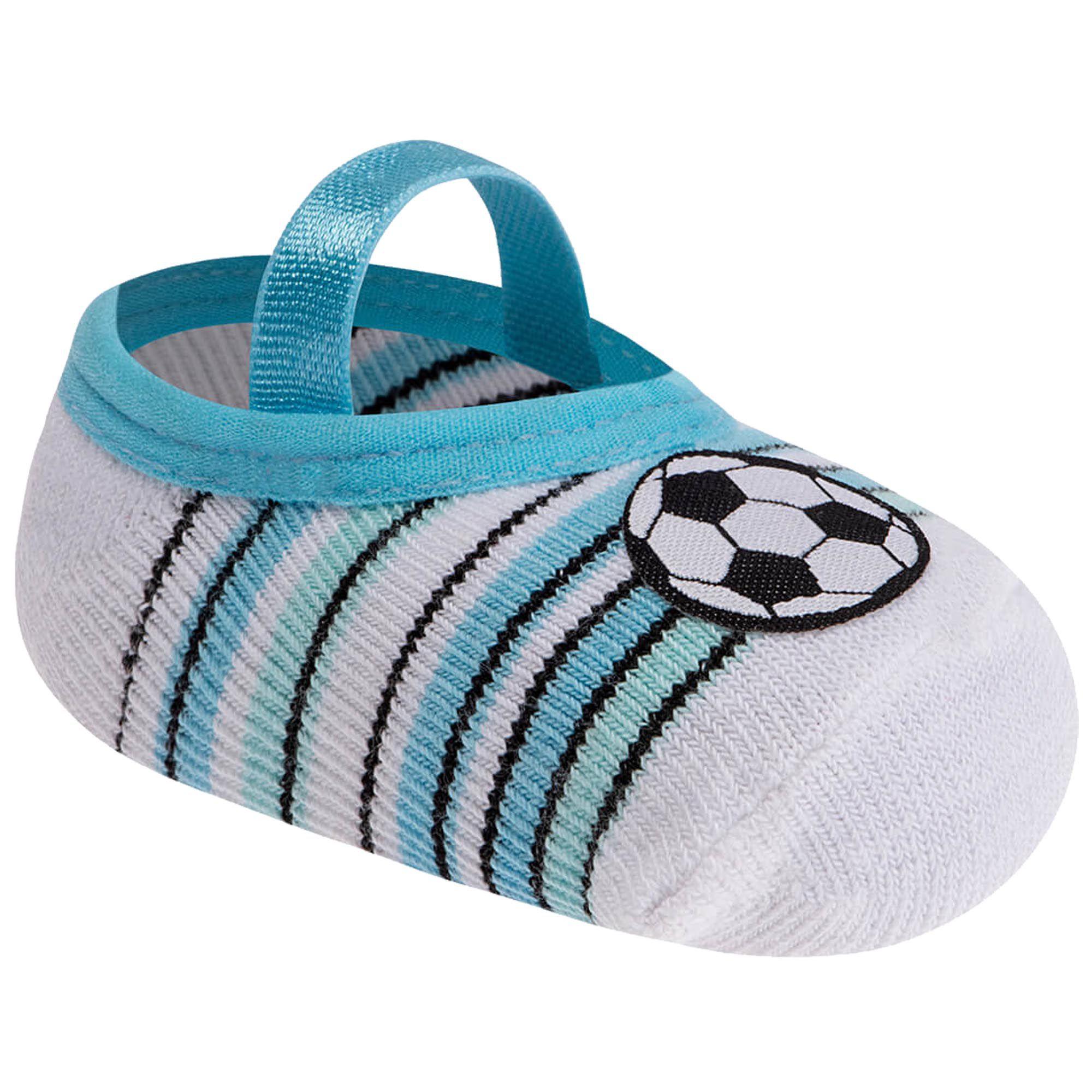Meia Infantil Pimpolho cano curto - Bola de Futebol - 00 a 15