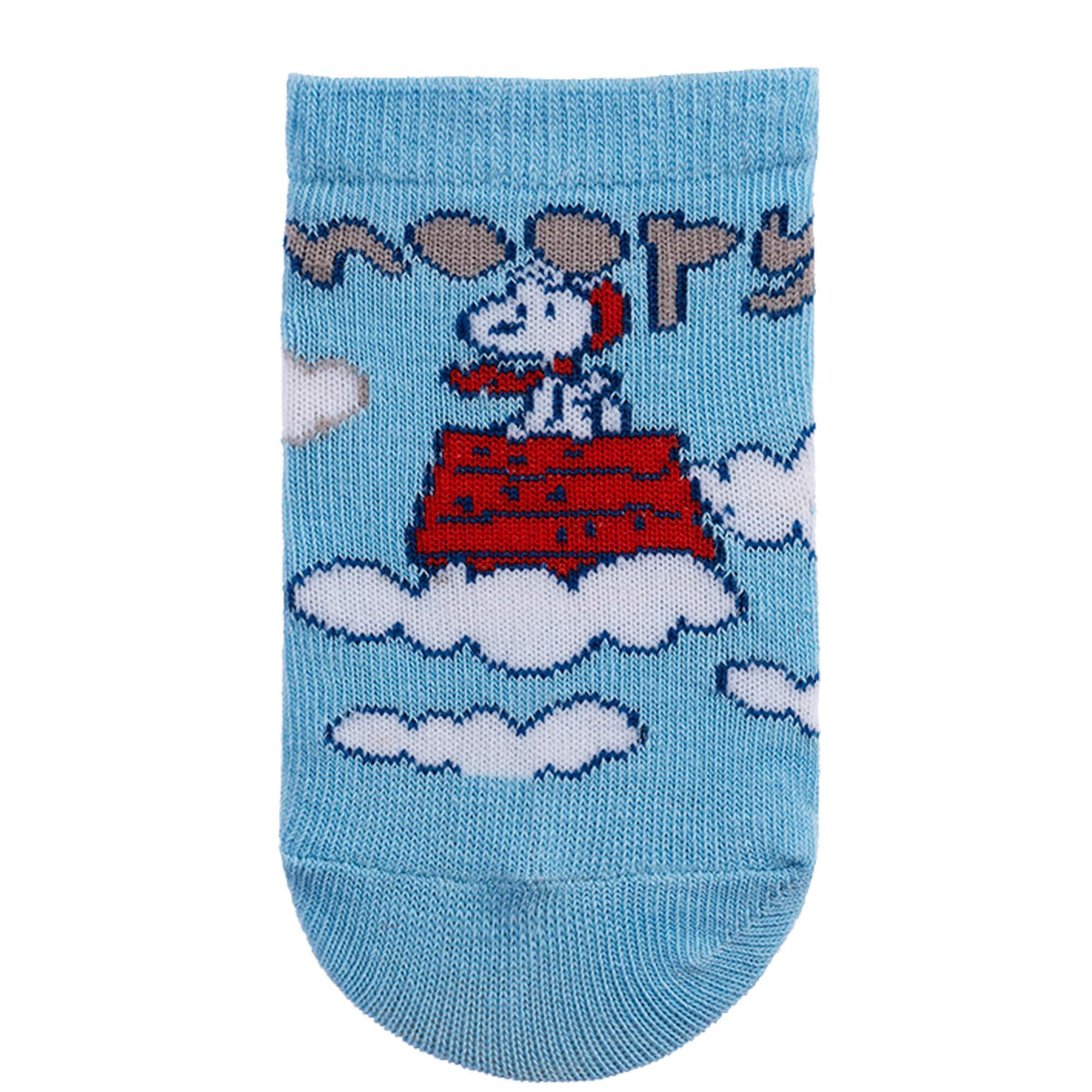Meia Pimpolho Snoopy Nuvens – Azul – 00 a 15