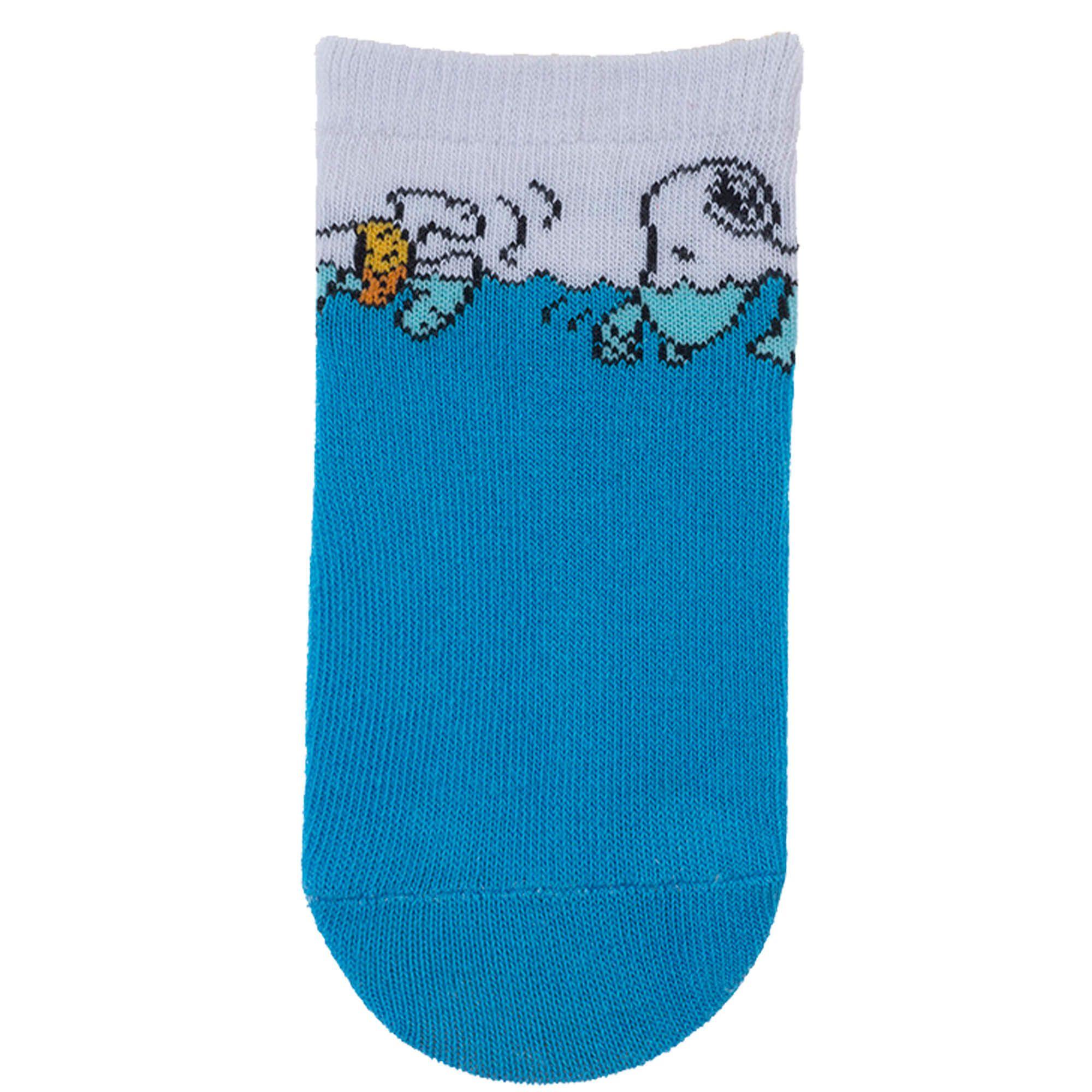 Meia Pimpolho Snoopy Nadador – Azul e Branco – 16 a 20