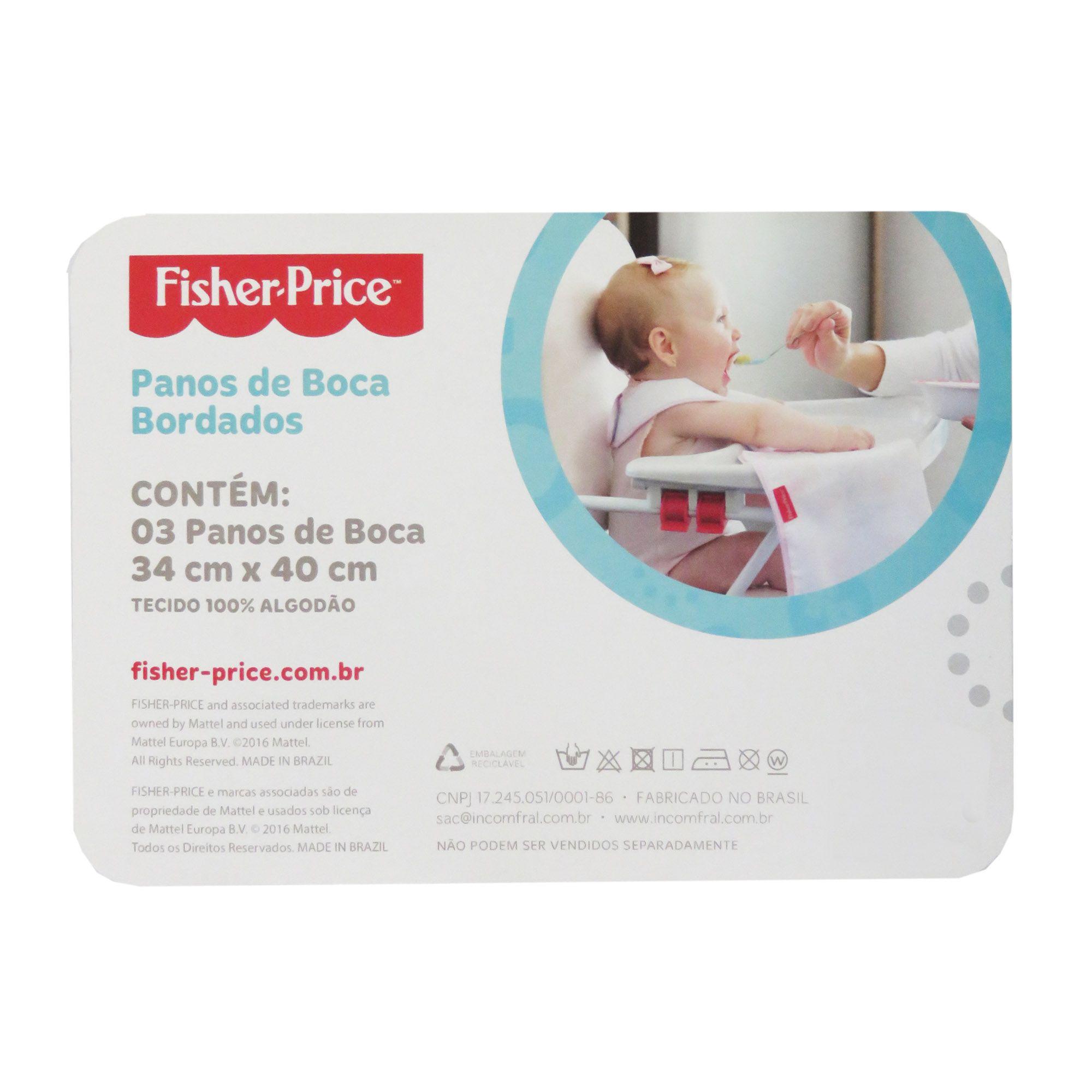 Pano de Boca Incomfral Fisher-Price - Estampado - Rosa Claro