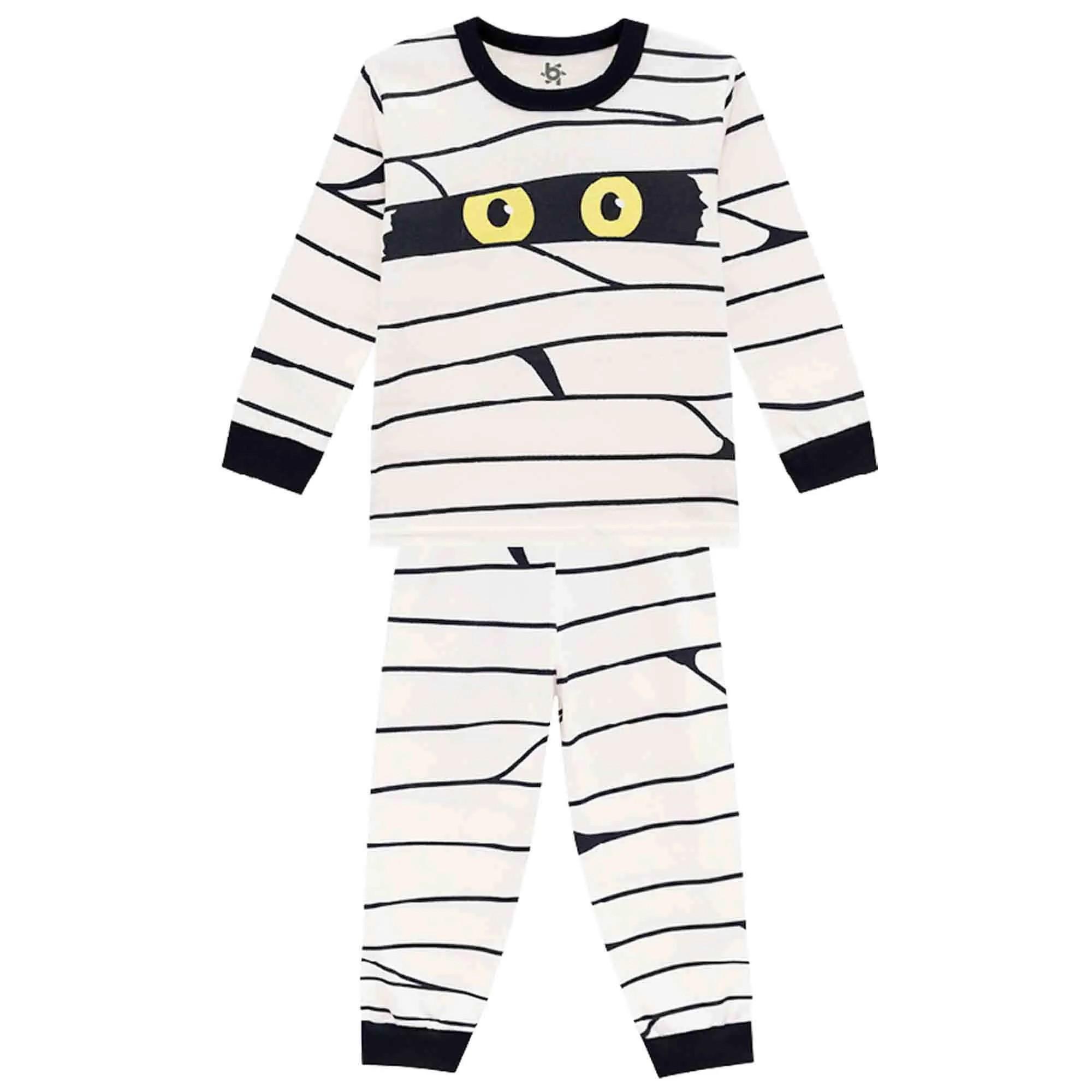 Pijama Inverno Brandili Camiseta e Calça - Brilha no Escuro - 1 ao 3