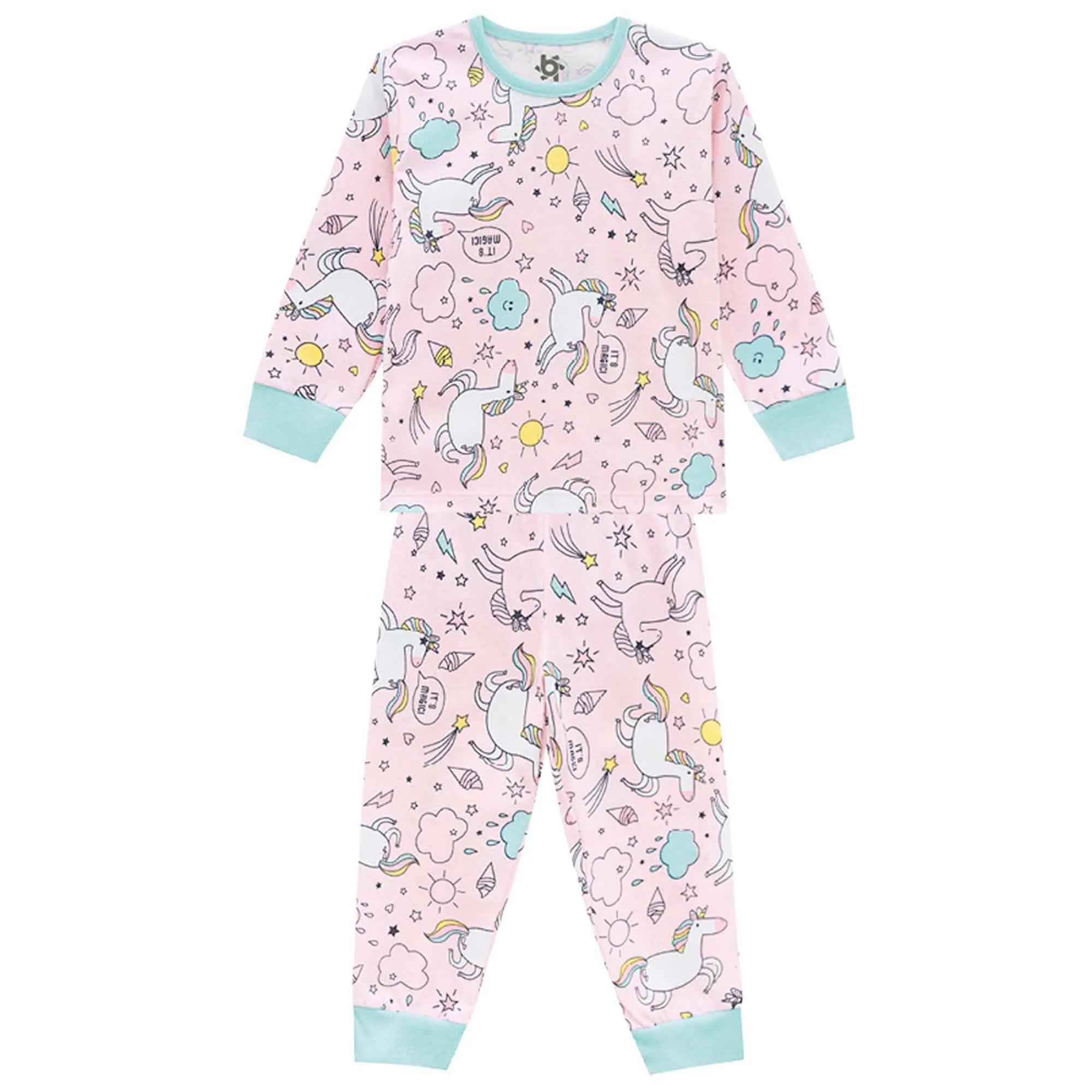 Pijama Inverno Brandili Unicórnio - 4 ao 10