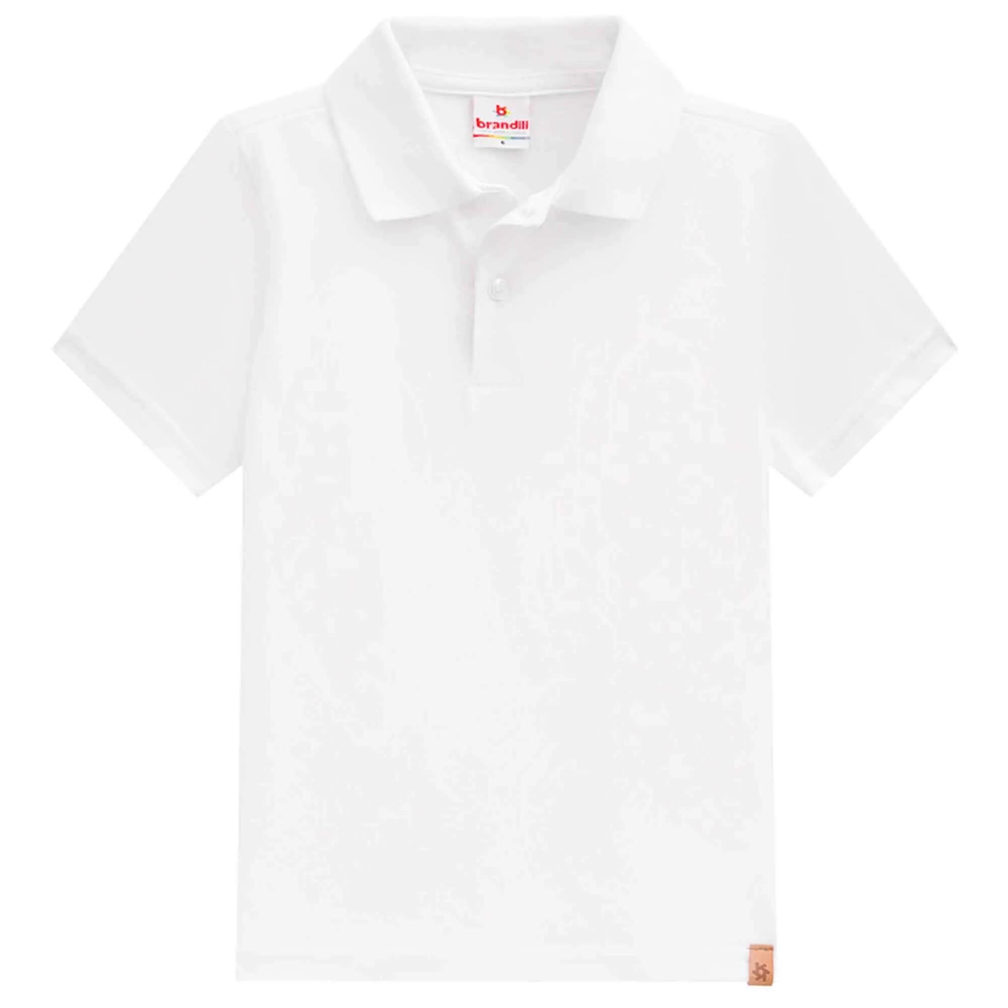 Camiseta Polo Meia Manga Brandili Lisa - 4 ao 10