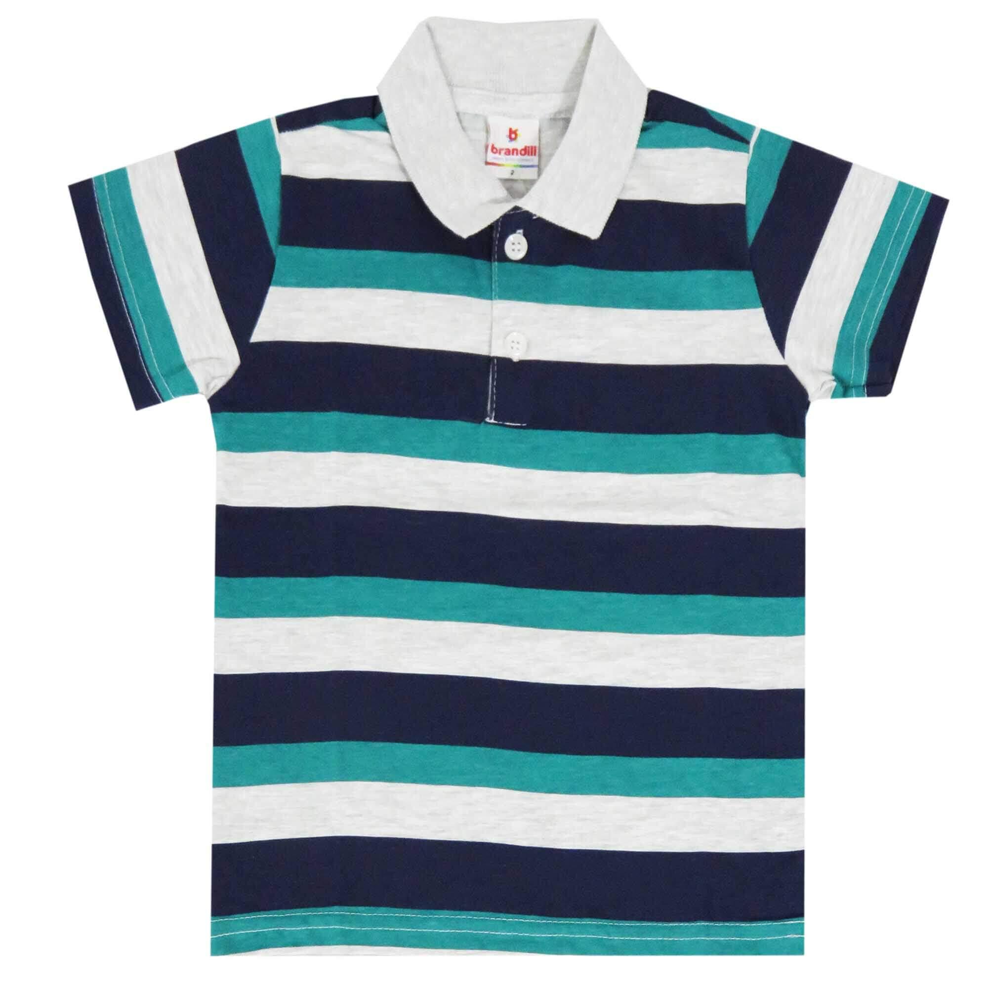 Camiseta Polo Meia Manga Brandili Meia Malha - 4 ao 10