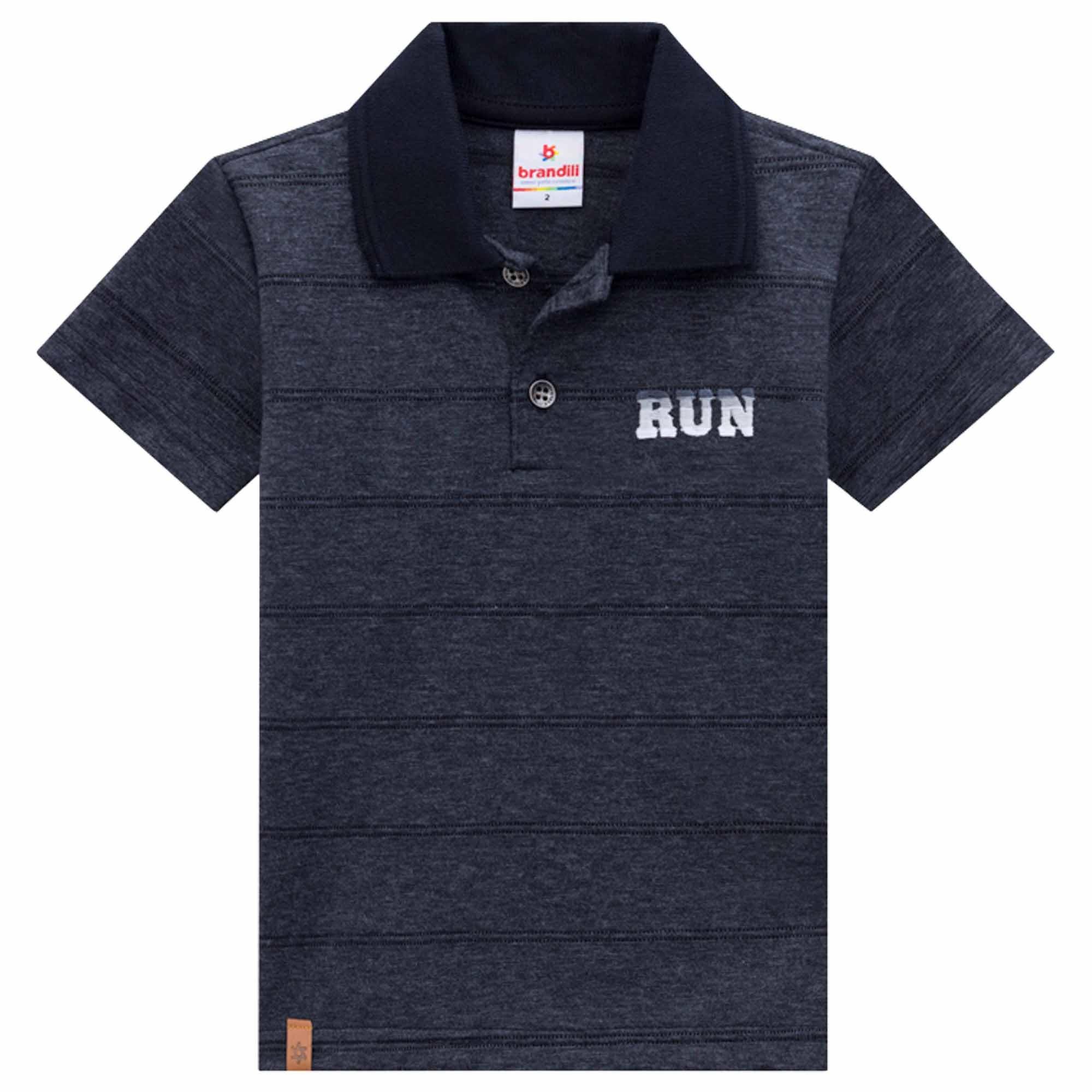 Camiseta Polo Meia Manga Brandili Run - 1 ao 3