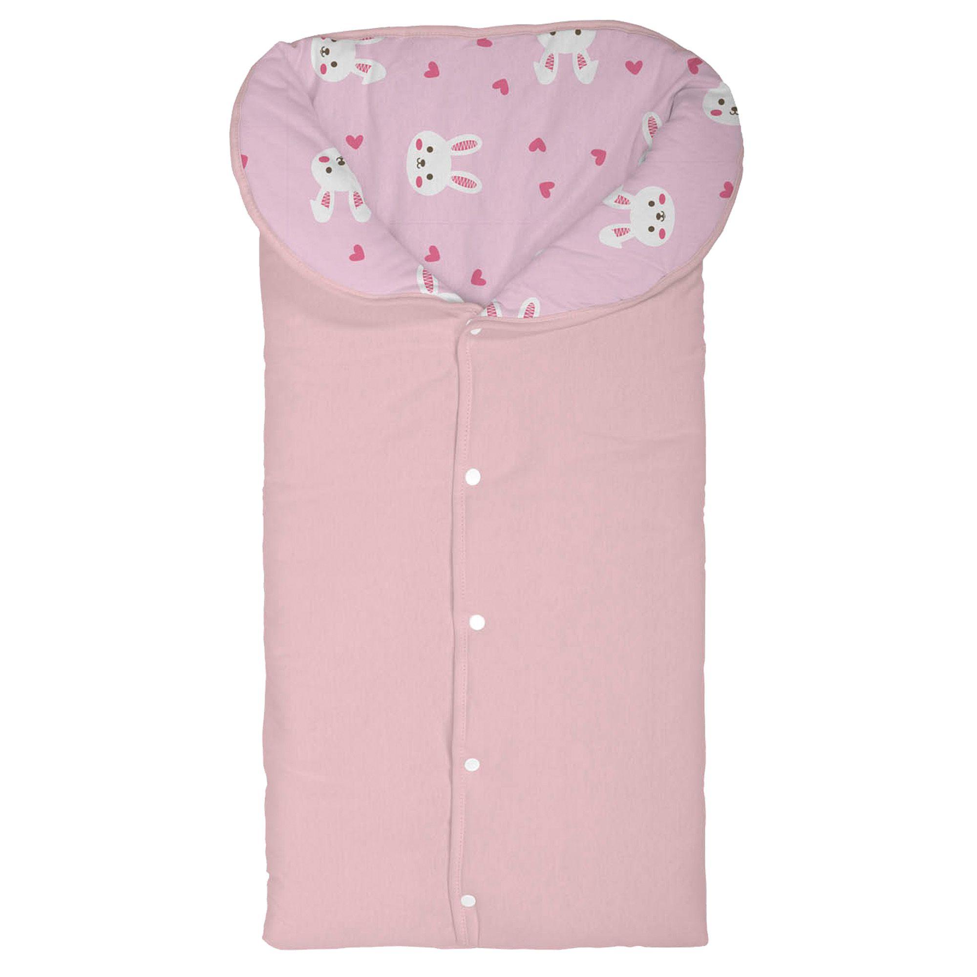 Porta Bebê Incomfral Bambi - Estampado Coelha - Rosa Claro