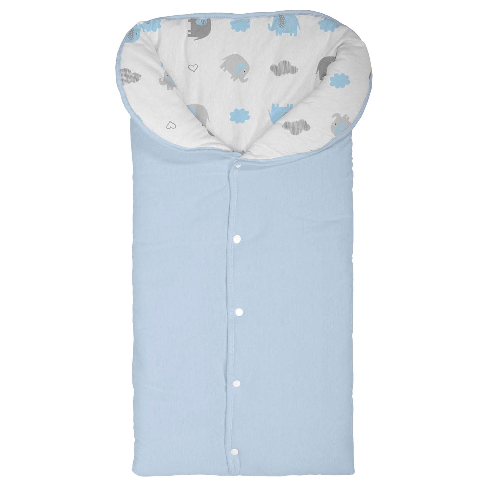 Porta Bebê Incomfral Bambi – Estampado Elefante - Azul Claro