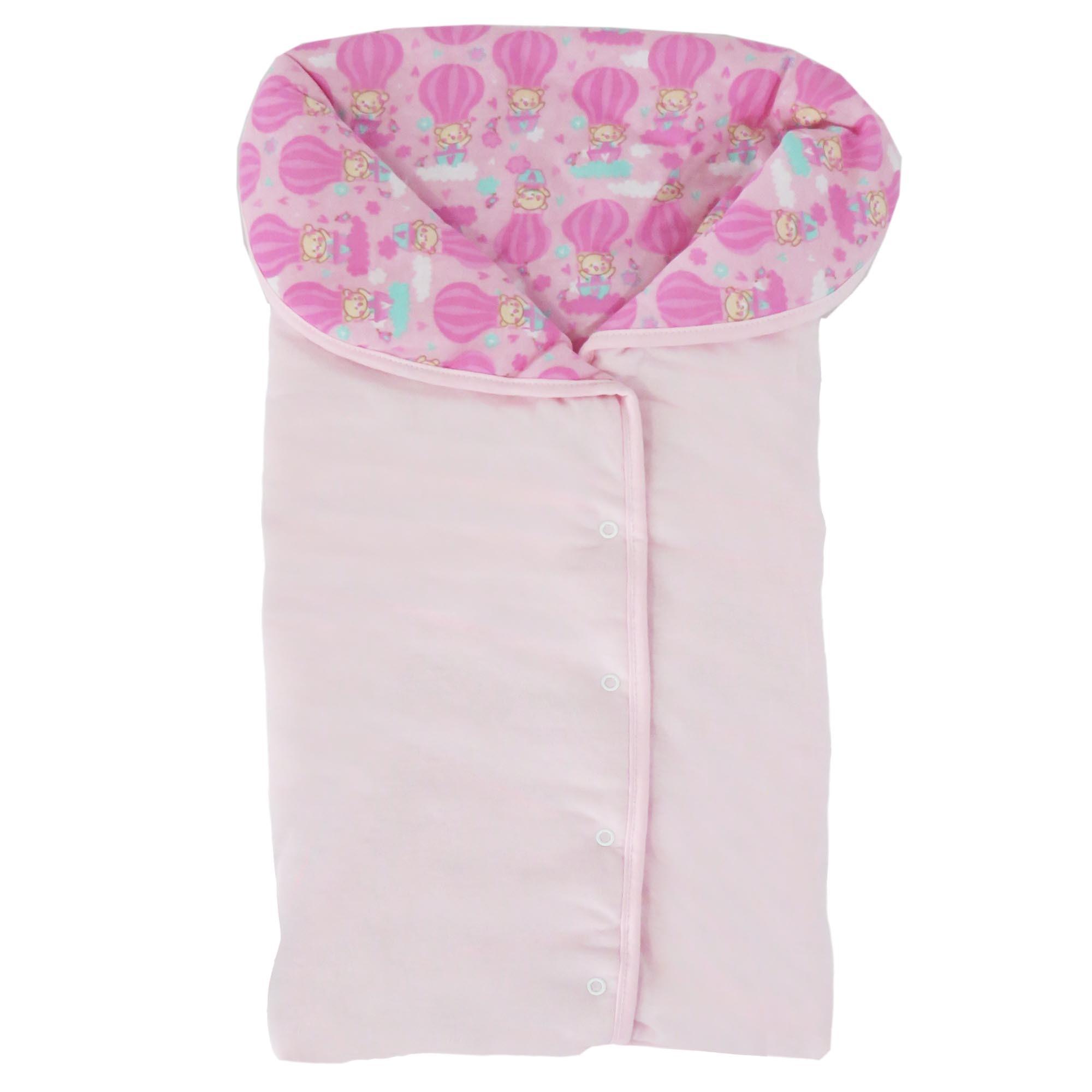 Porta Bebê Incomfral Bambi  Estampado Balões Rosa - Rosa