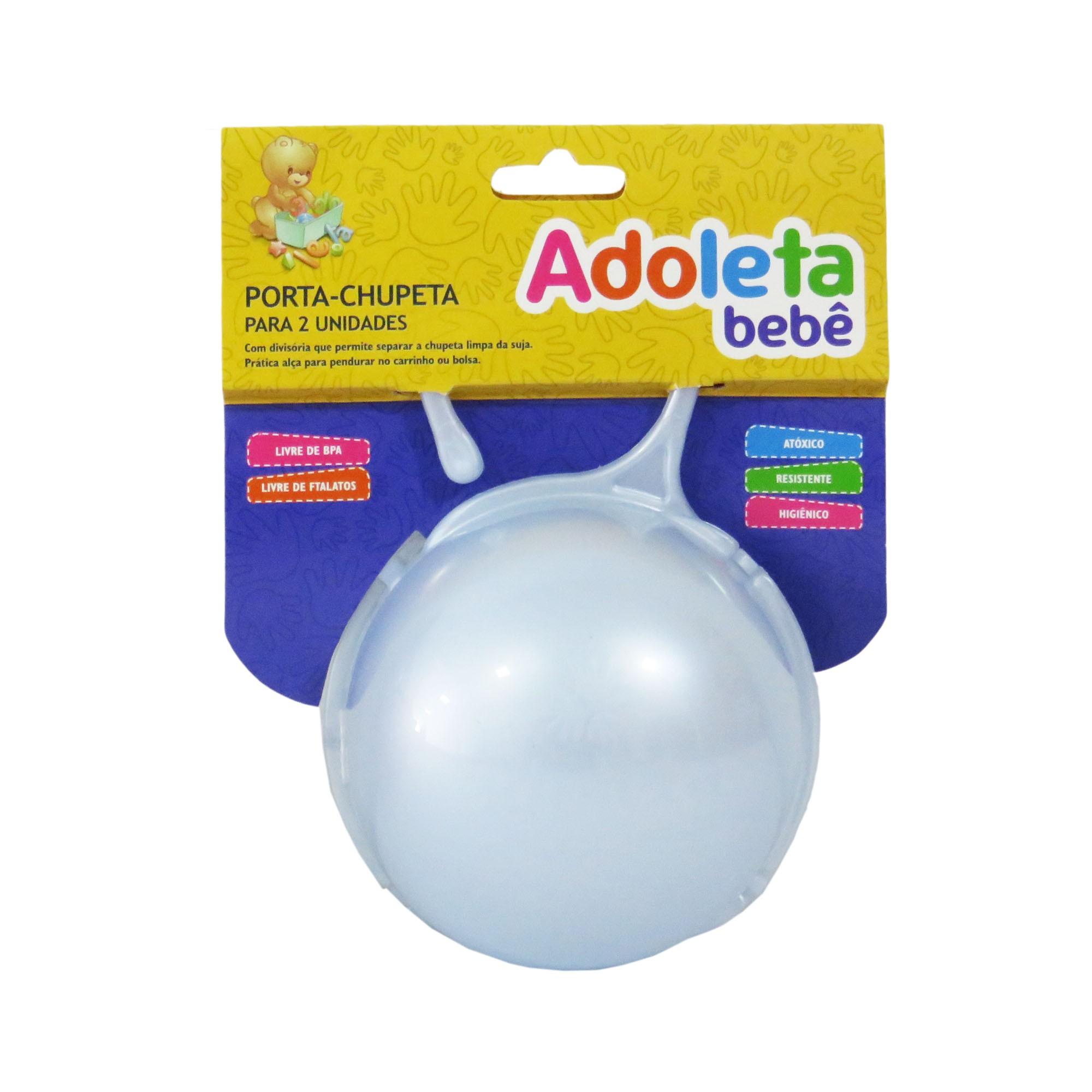 Porta-Chupeta Cajovil Adoleta - Para 2 Unidades - Azul