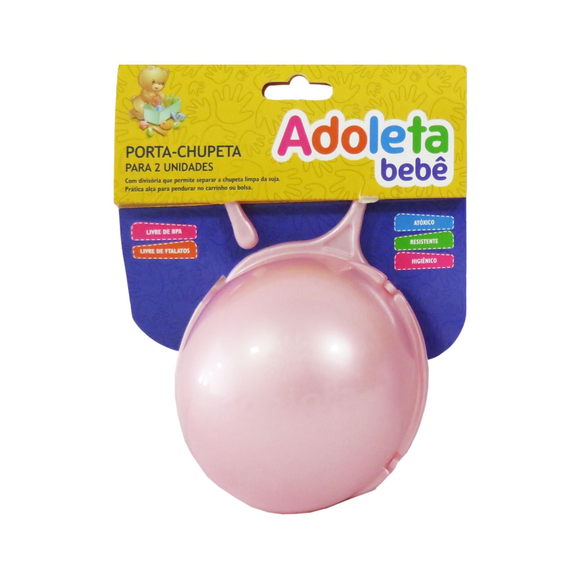 Porta-Chupeta Cajovil Adoleta - Para 2 Unidades - Rosa