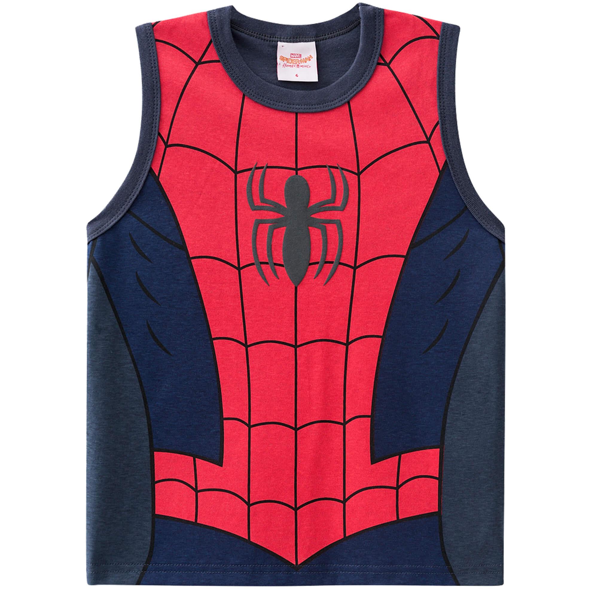 Regata Brandili Homem Aranha - 4 ao 10