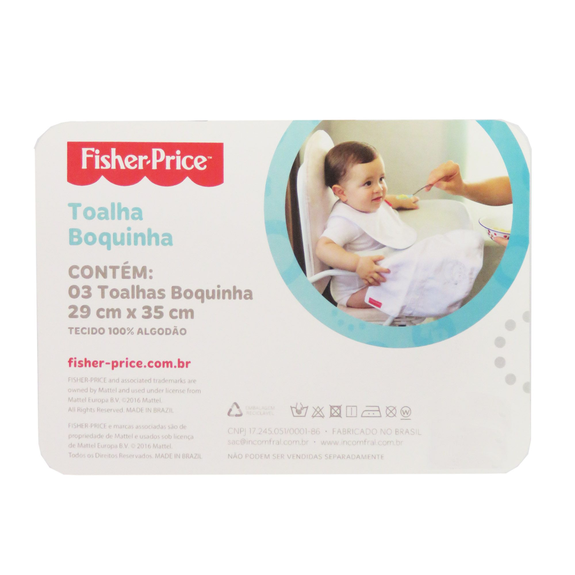 Toalha Boquinha Incomfral Fisher-Price