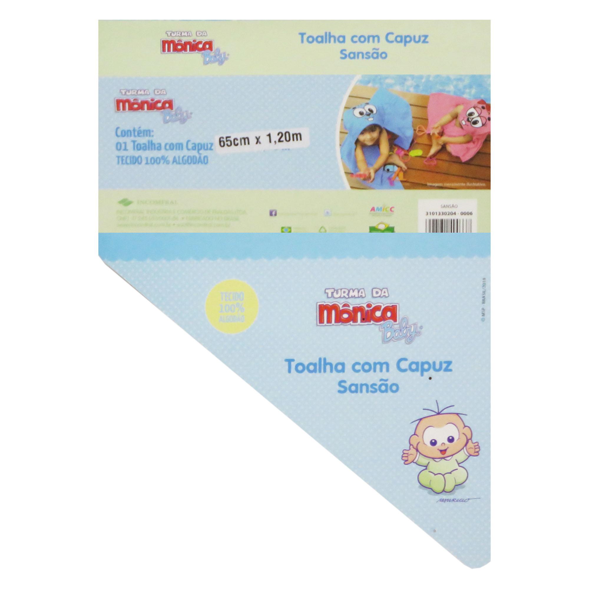 Toalha com Capuz - Incomfral - Turma da Mônica Baby - Sansão