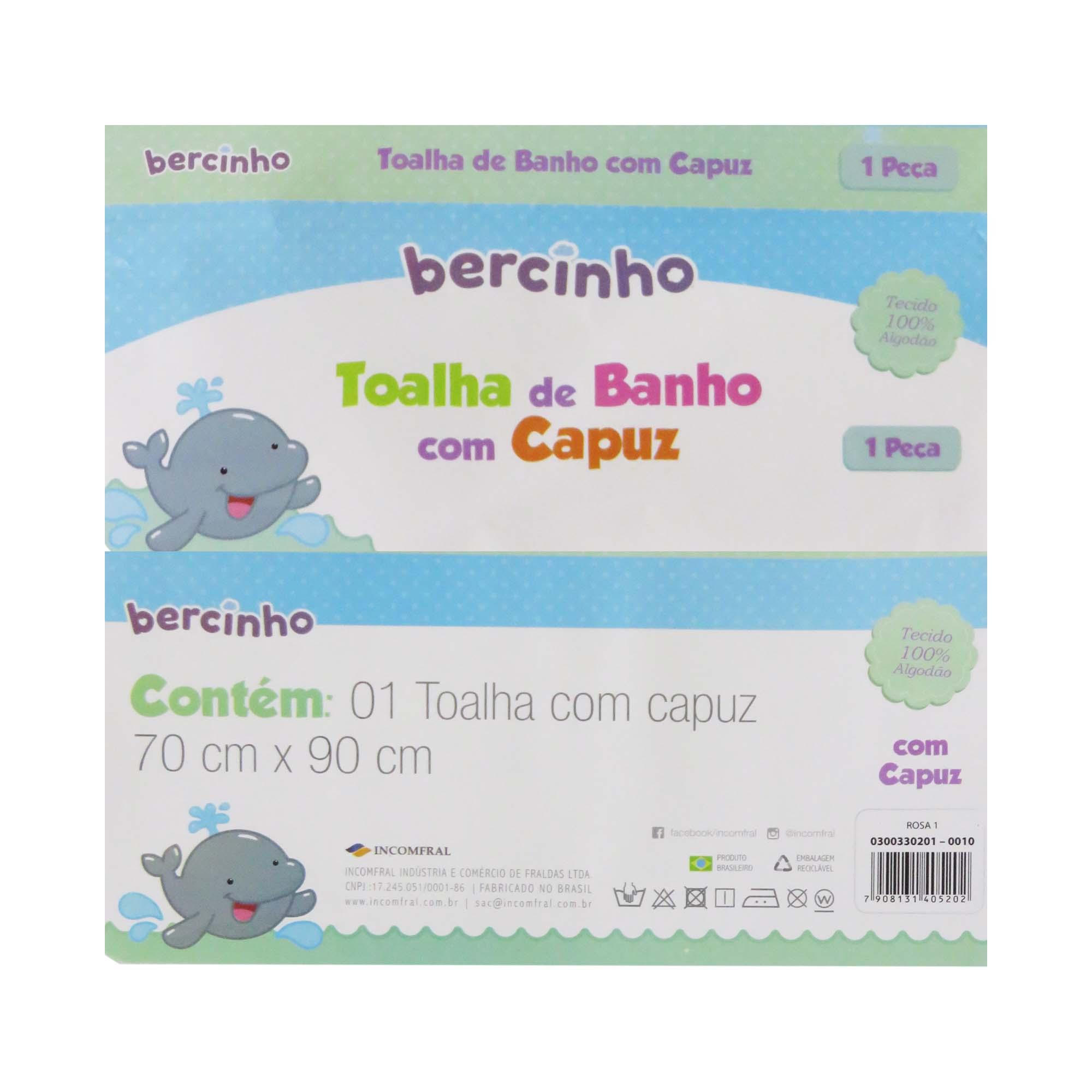 Toalha de Banho com Capuz - Incomfral - Bercinho