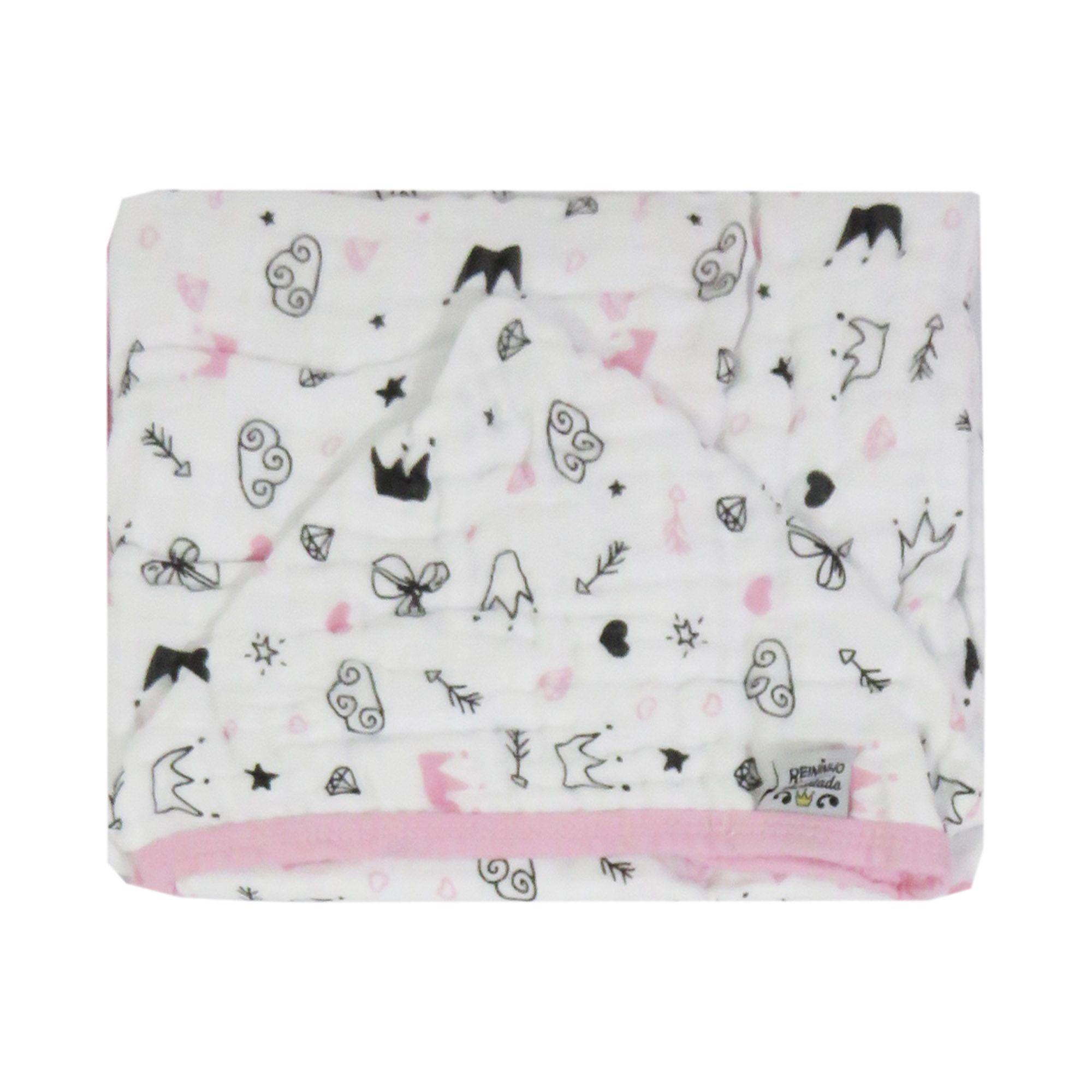 Toalha de banho com capuz Soft - Minasrey - Reininho Encantado