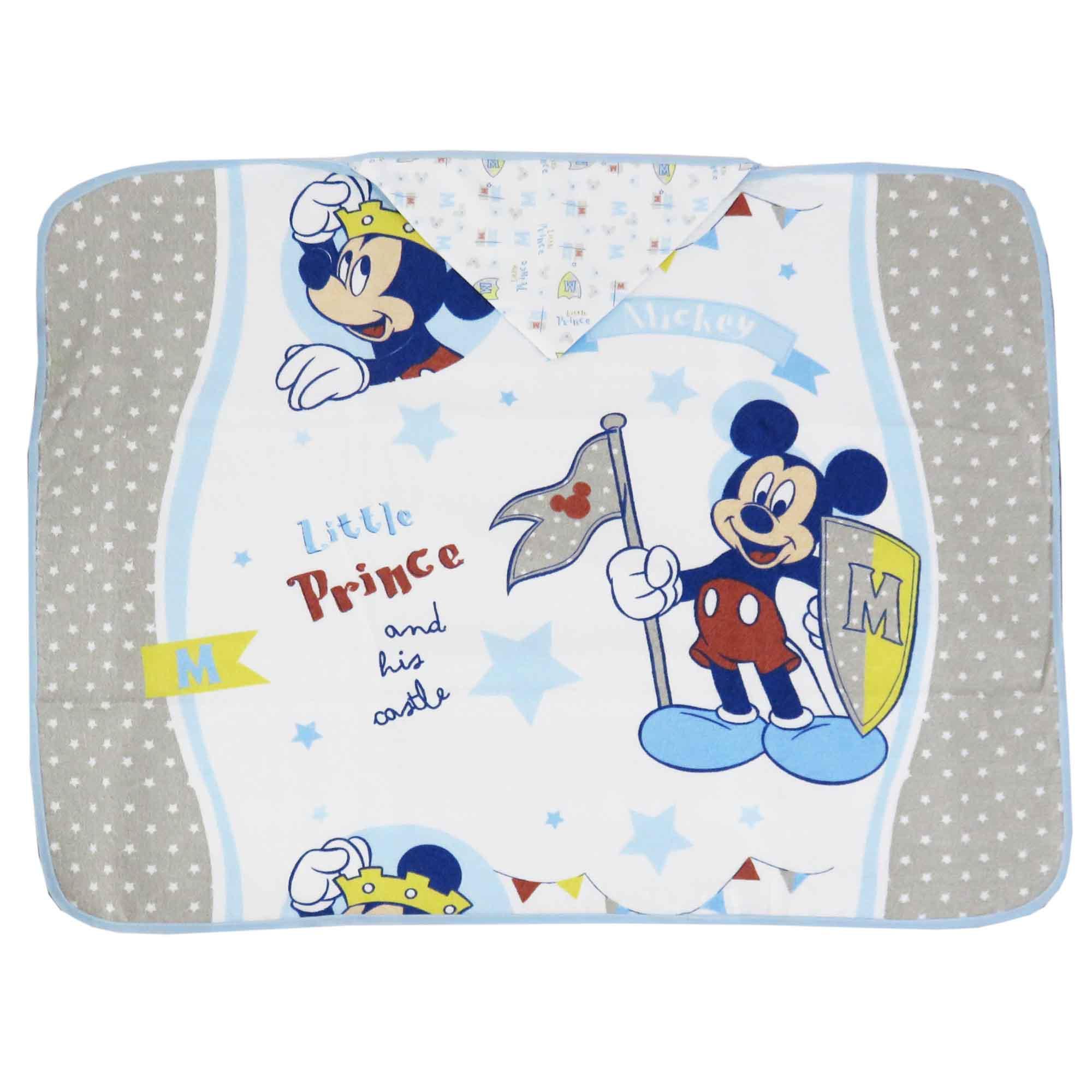 Toalha Estampada Minasrey Disney Com Forro em Fralda - Mickey