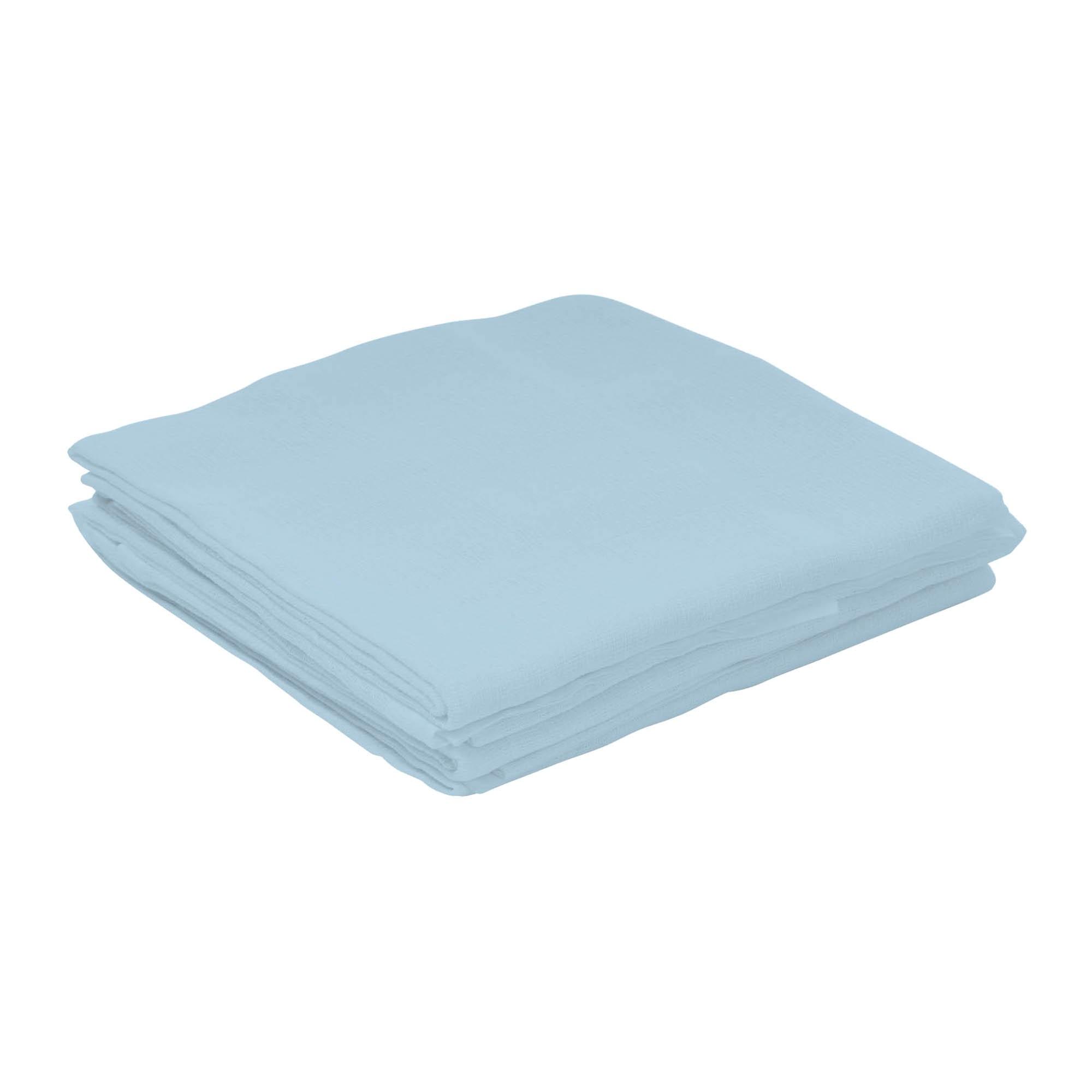 Toalha Fralda com 3 unidades - Incomfral - Pinte e Borde - Azul