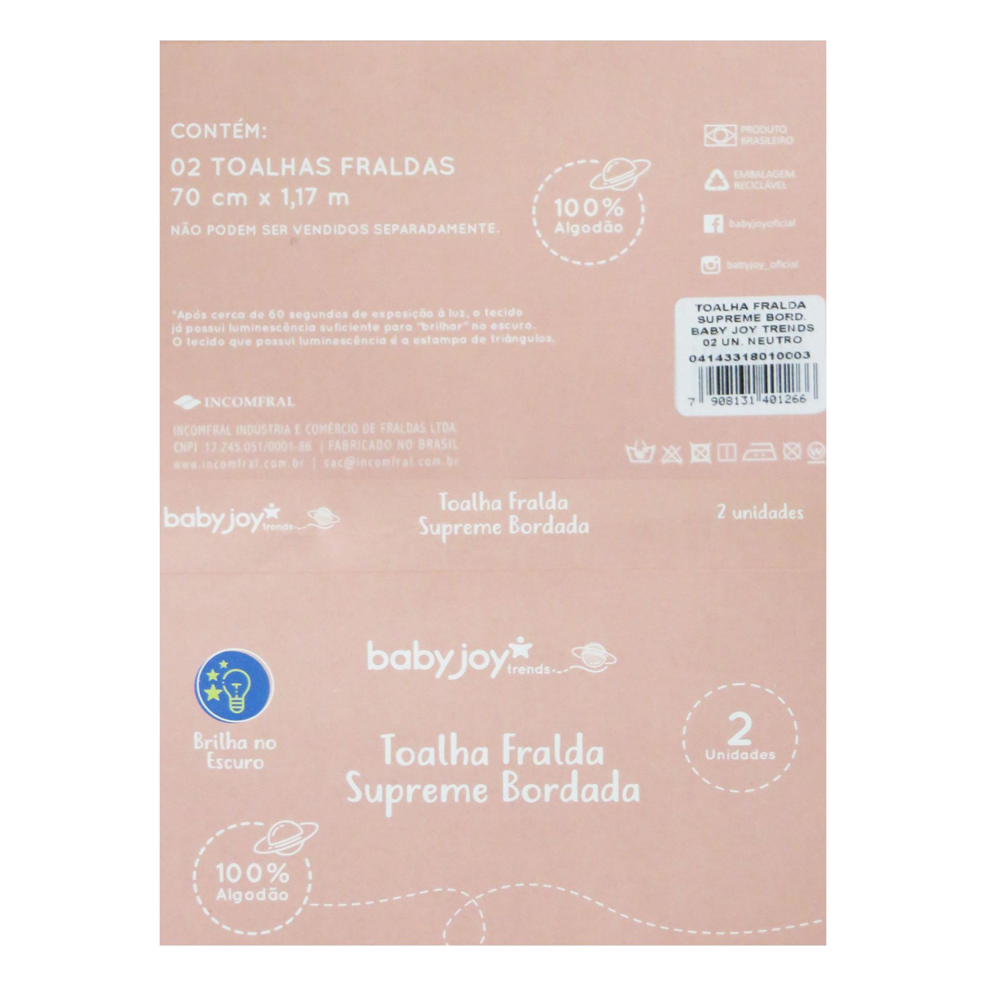 Toalha Fralda Supreme Bordada - Incomfral - BabyJoy Trends