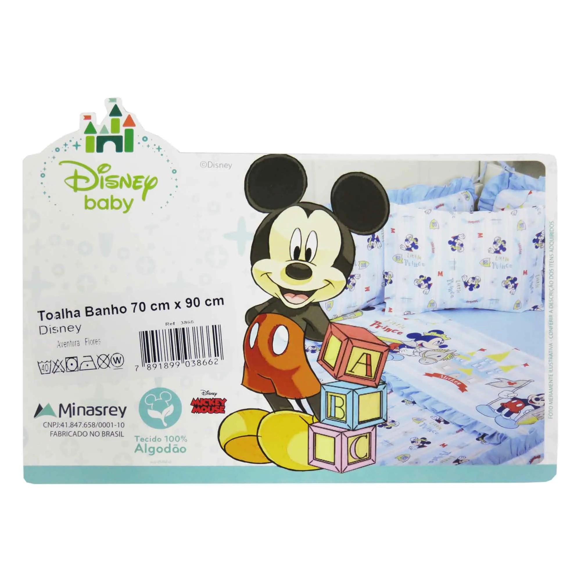 Toalha Minasrey Disney Aventura Flores - Mickey Príncipe