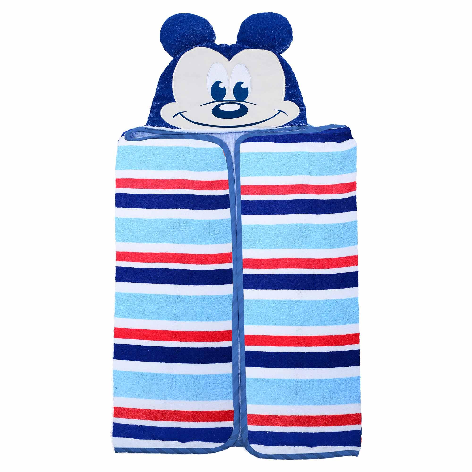 Toalha Minasrey Disney Bordada Com Forro em Fralda - Carinhas Mickey