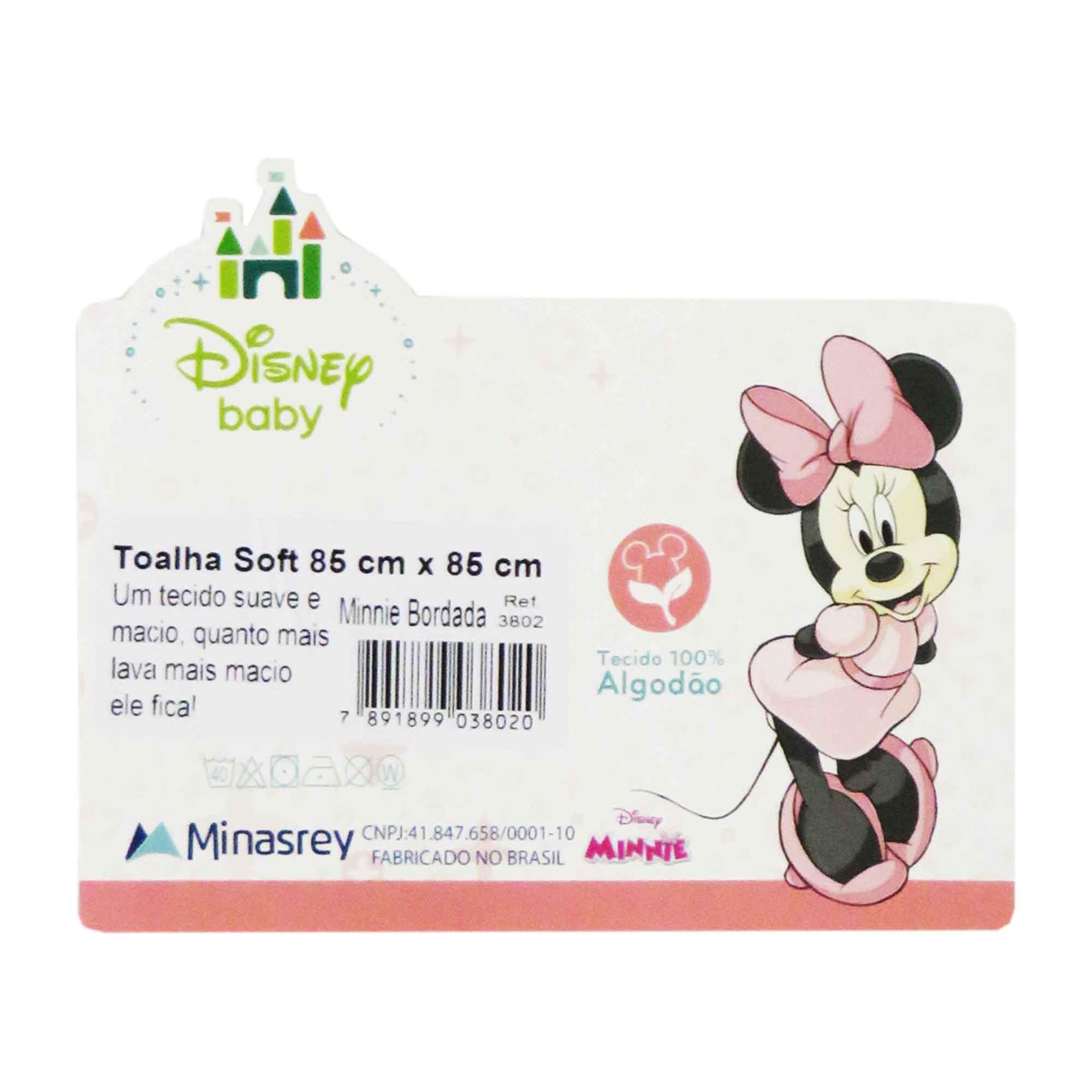 Toalha Soft Minasrey Disney Bordada Com Capuz - Minnie